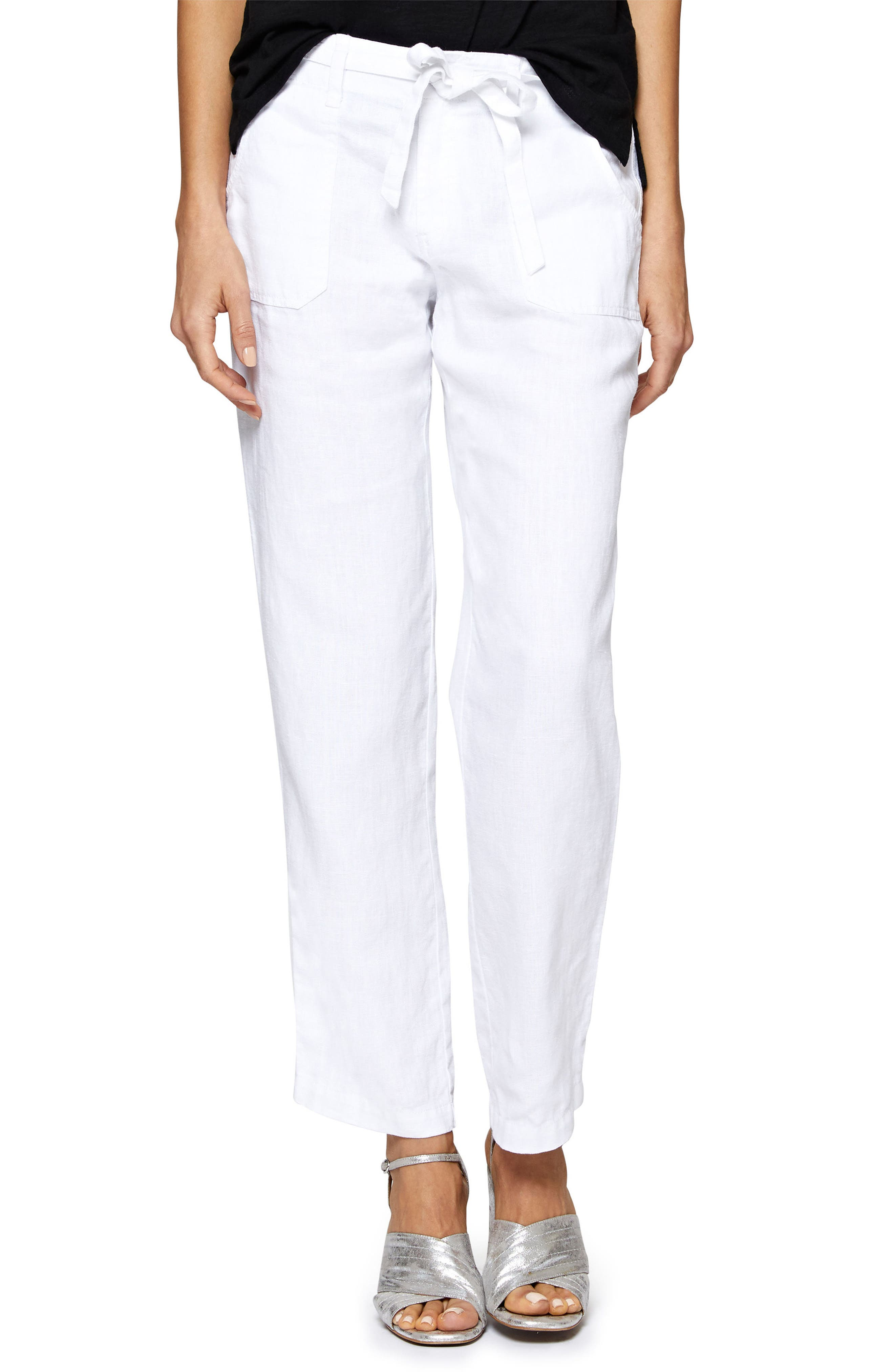 Beachcomber Linen Pants,                             Main thumbnail 1, color,                             White