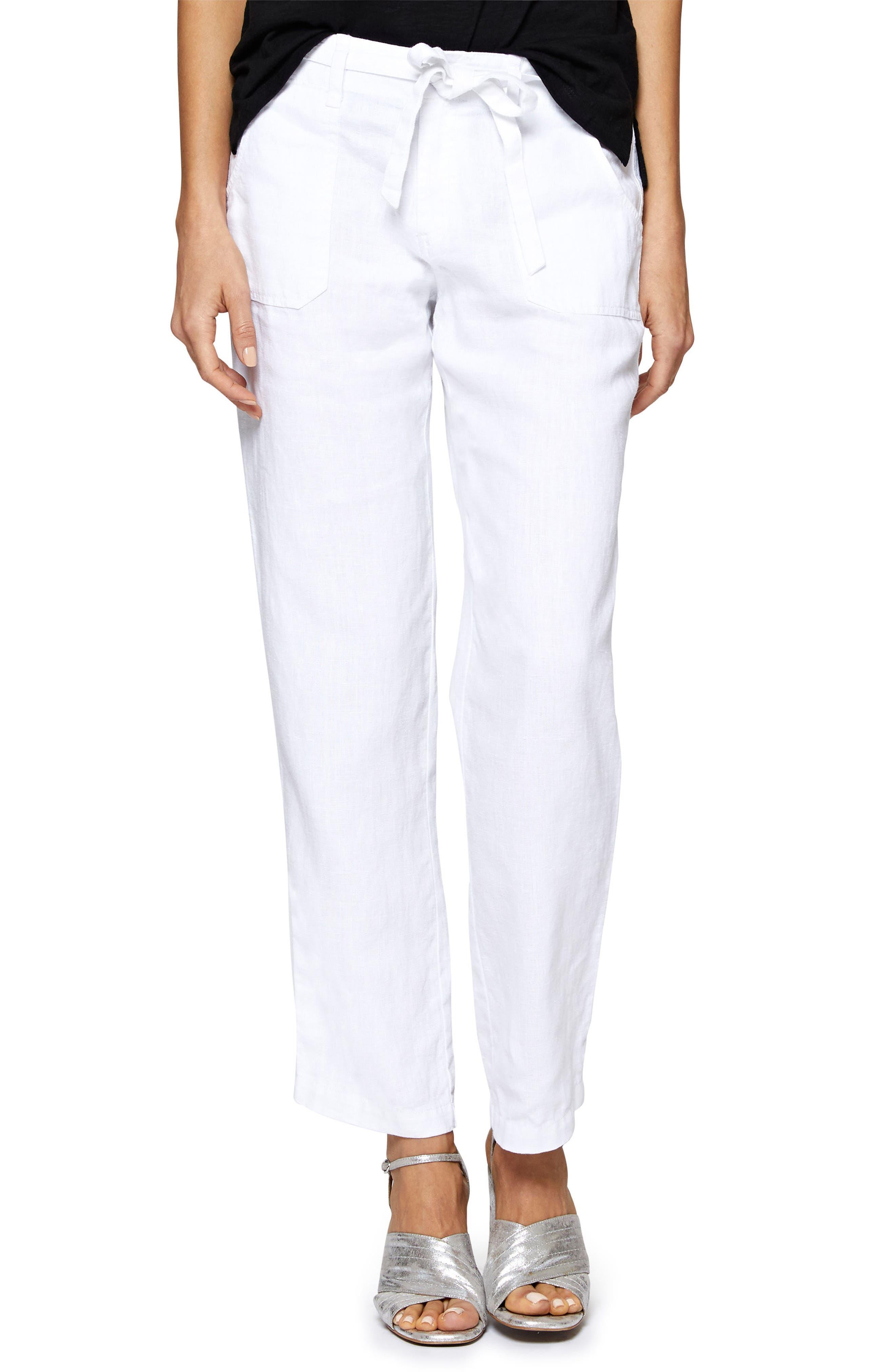Beachcomber Linen Pants,                         Main,                         color, White