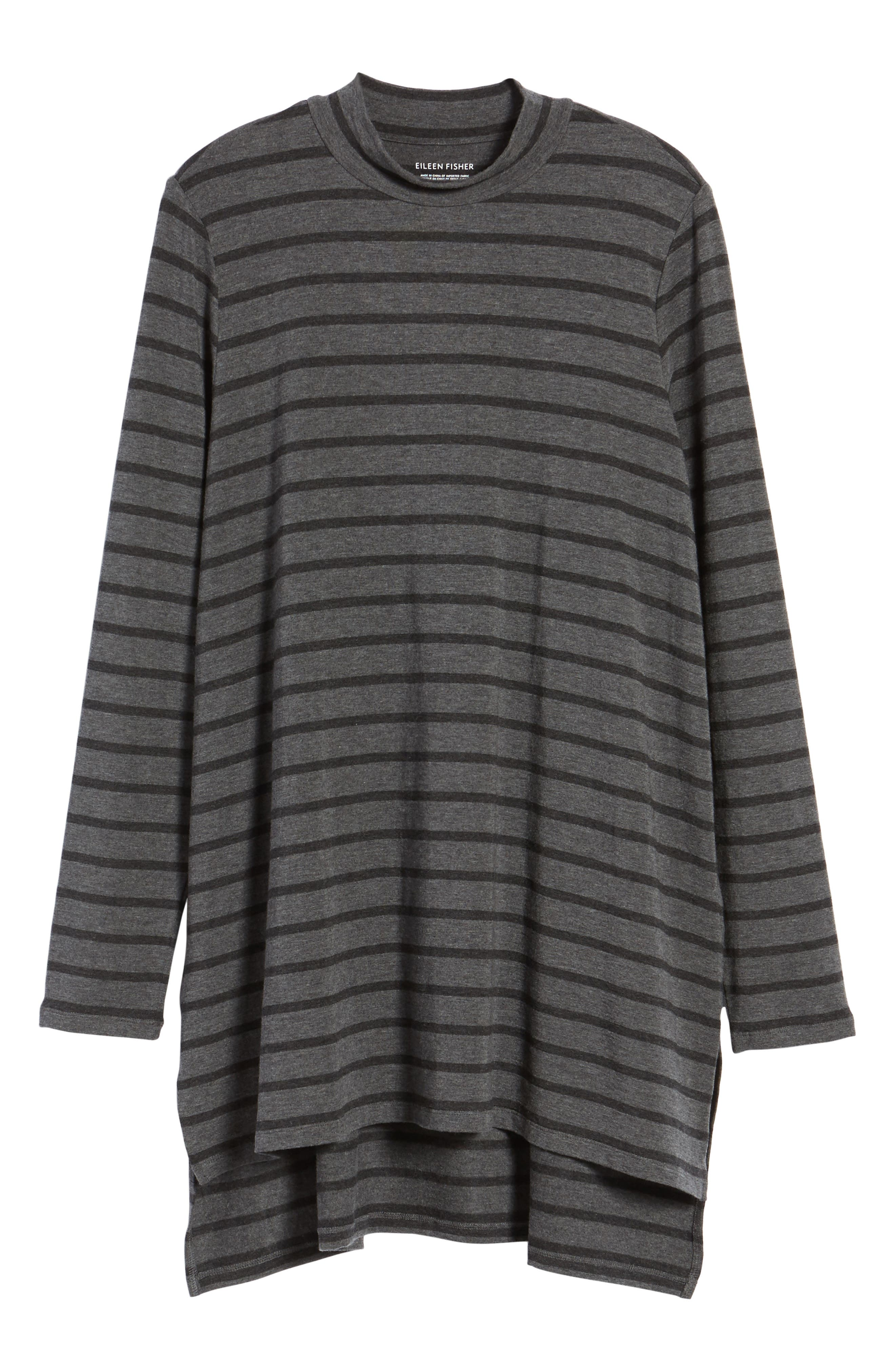 Alternate Image 6  - Eileen Fisher Stripe Stretch Tencel® Tunic