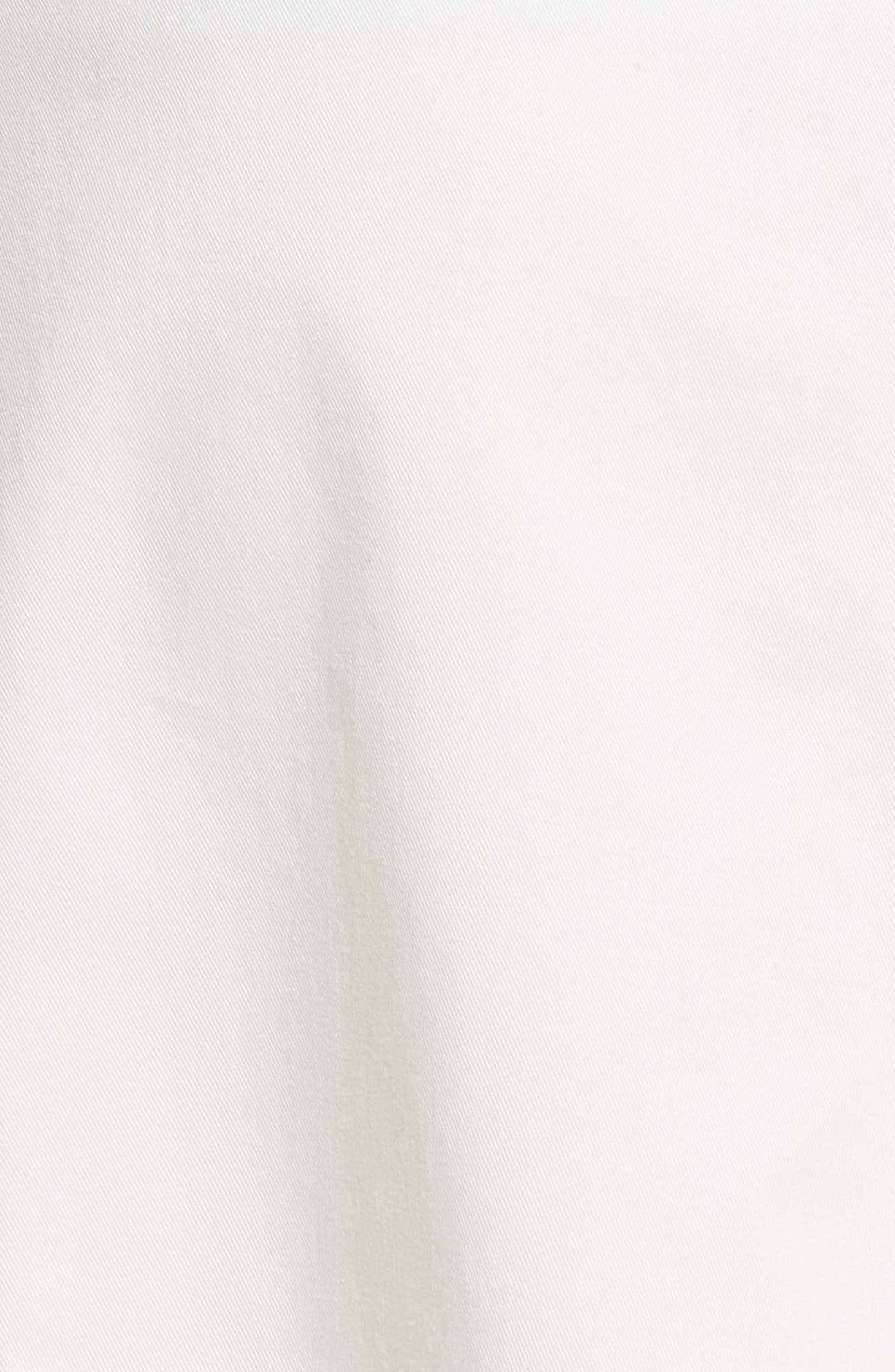 Twill Chino Midi Skirt,                             Alternate thumbnail 5, color,                             Ecru
