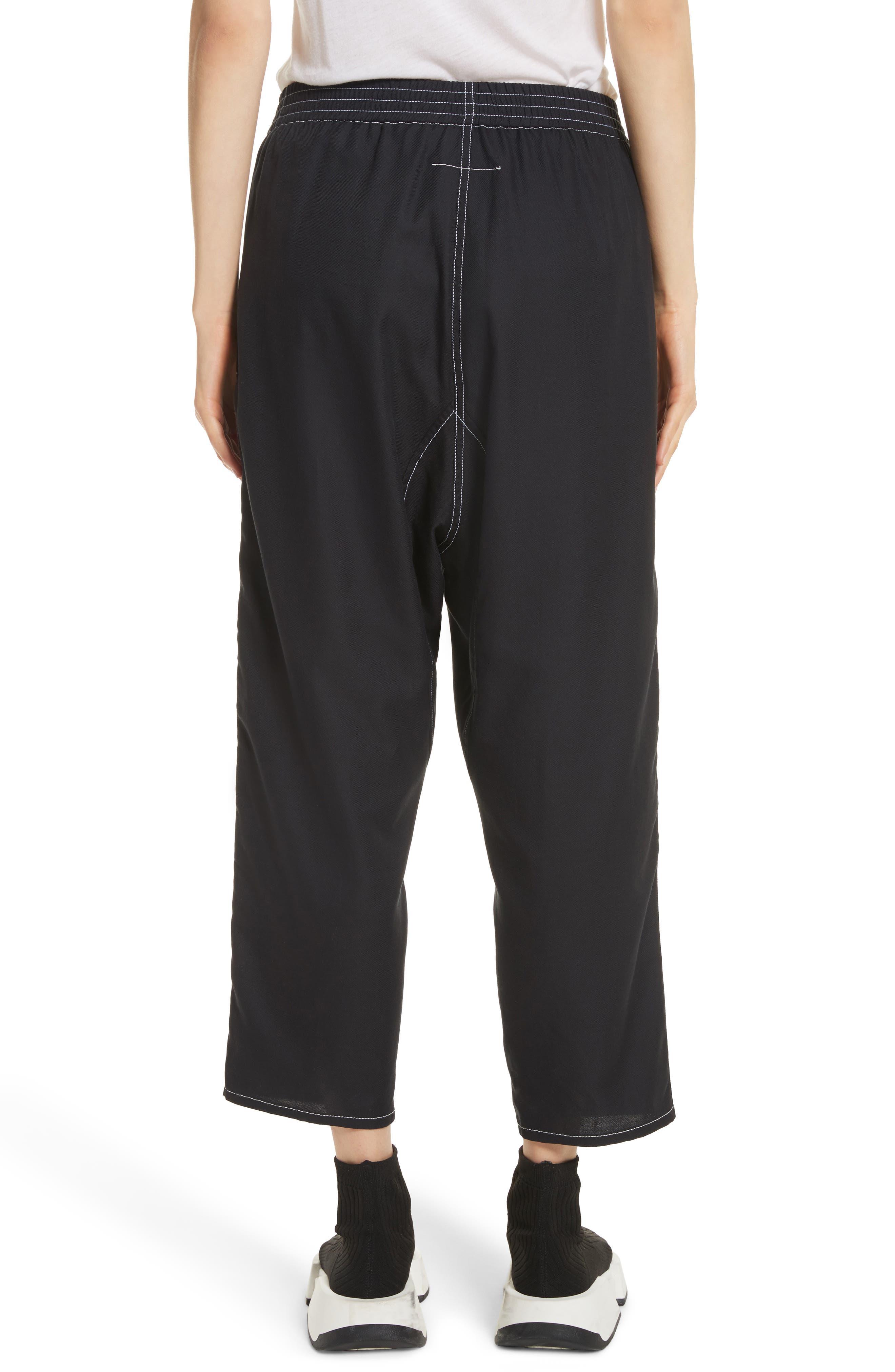 Crop Pants,                             Alternate thumbnail 3, color,                             Black