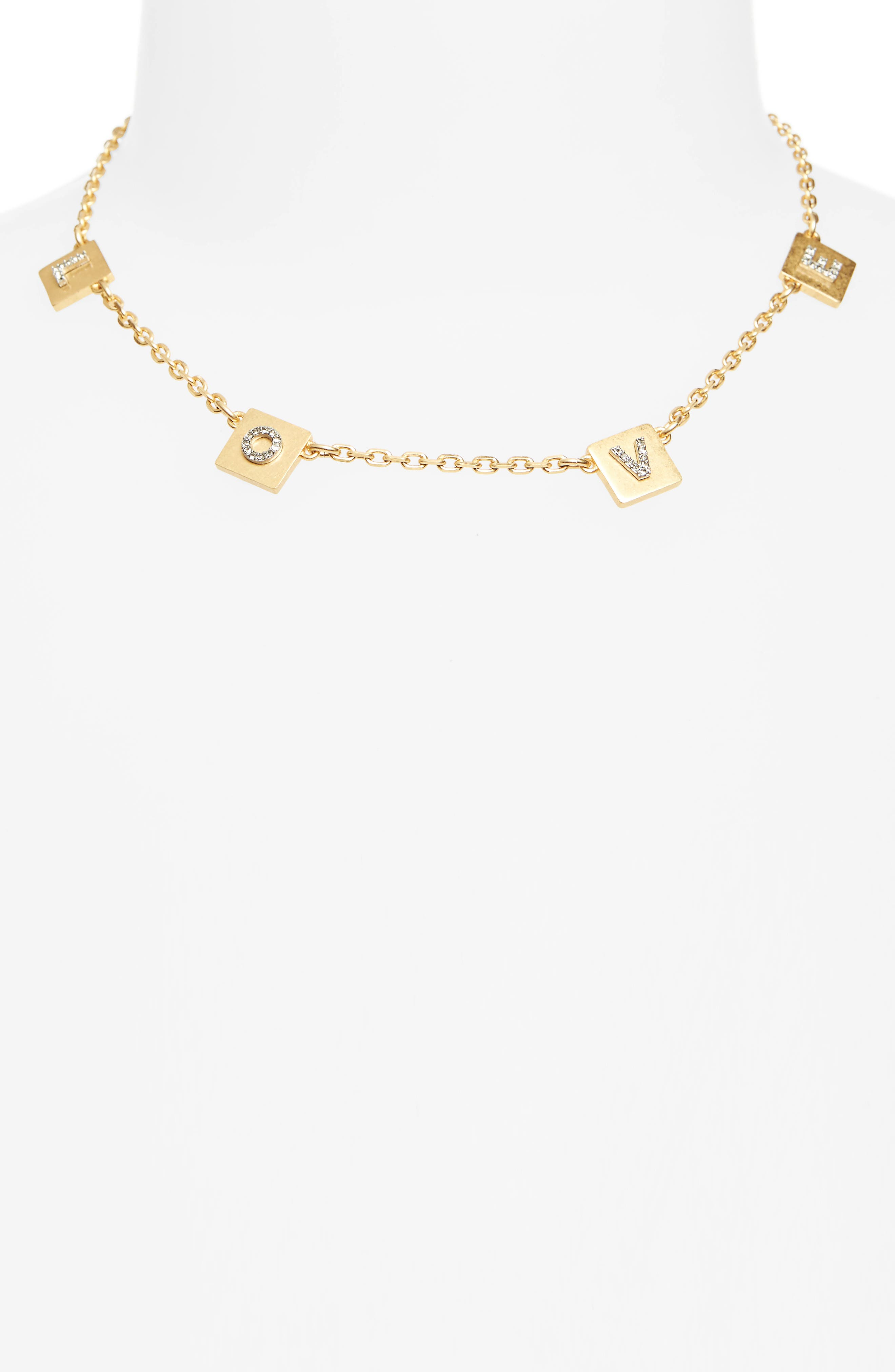 Alternate Image 2  - Tory Burch Love Message Collar Necklace