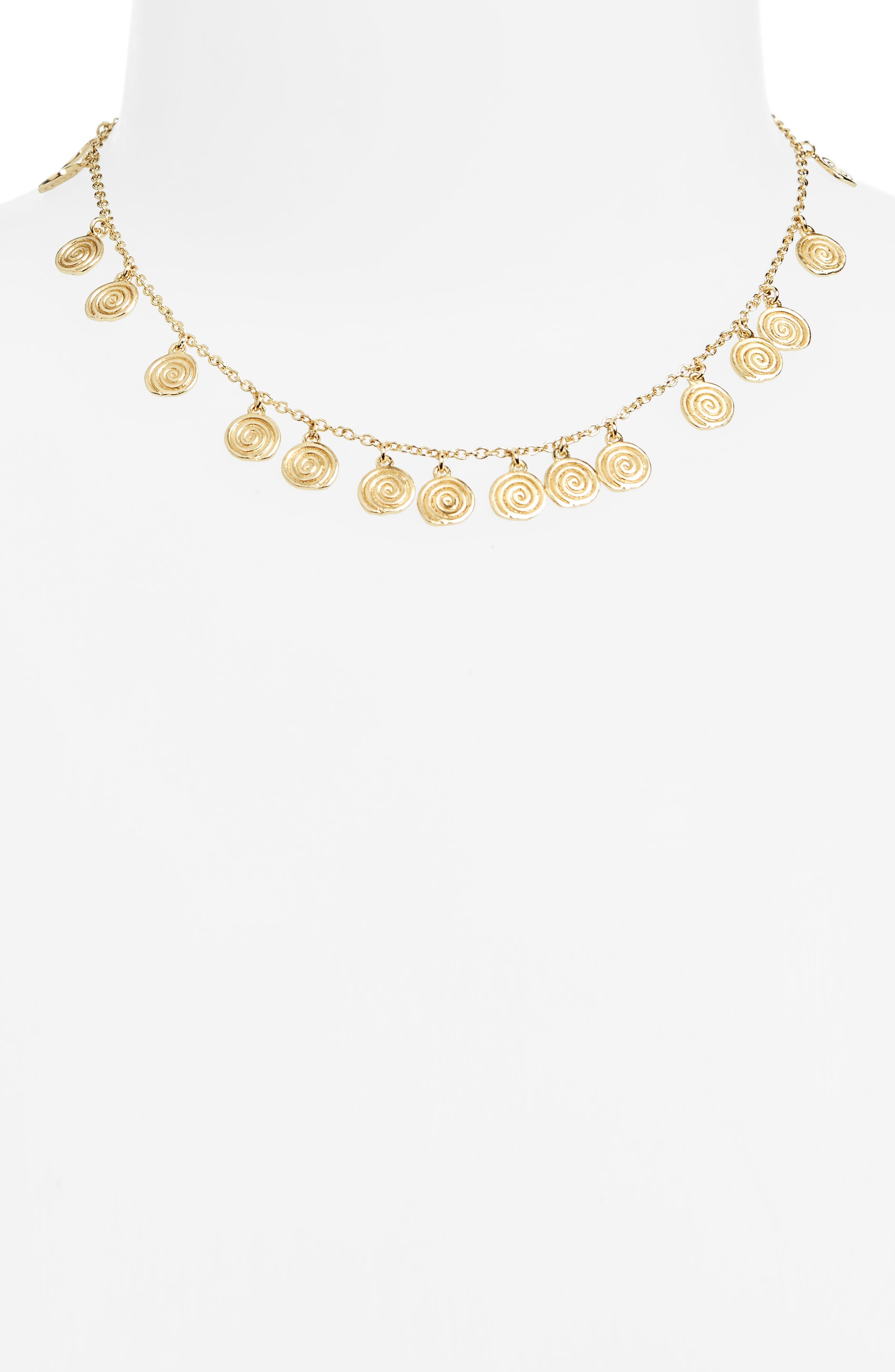 Sullivan - Reeves Charm Necklace,                         Main,                         color, Yellow Gold