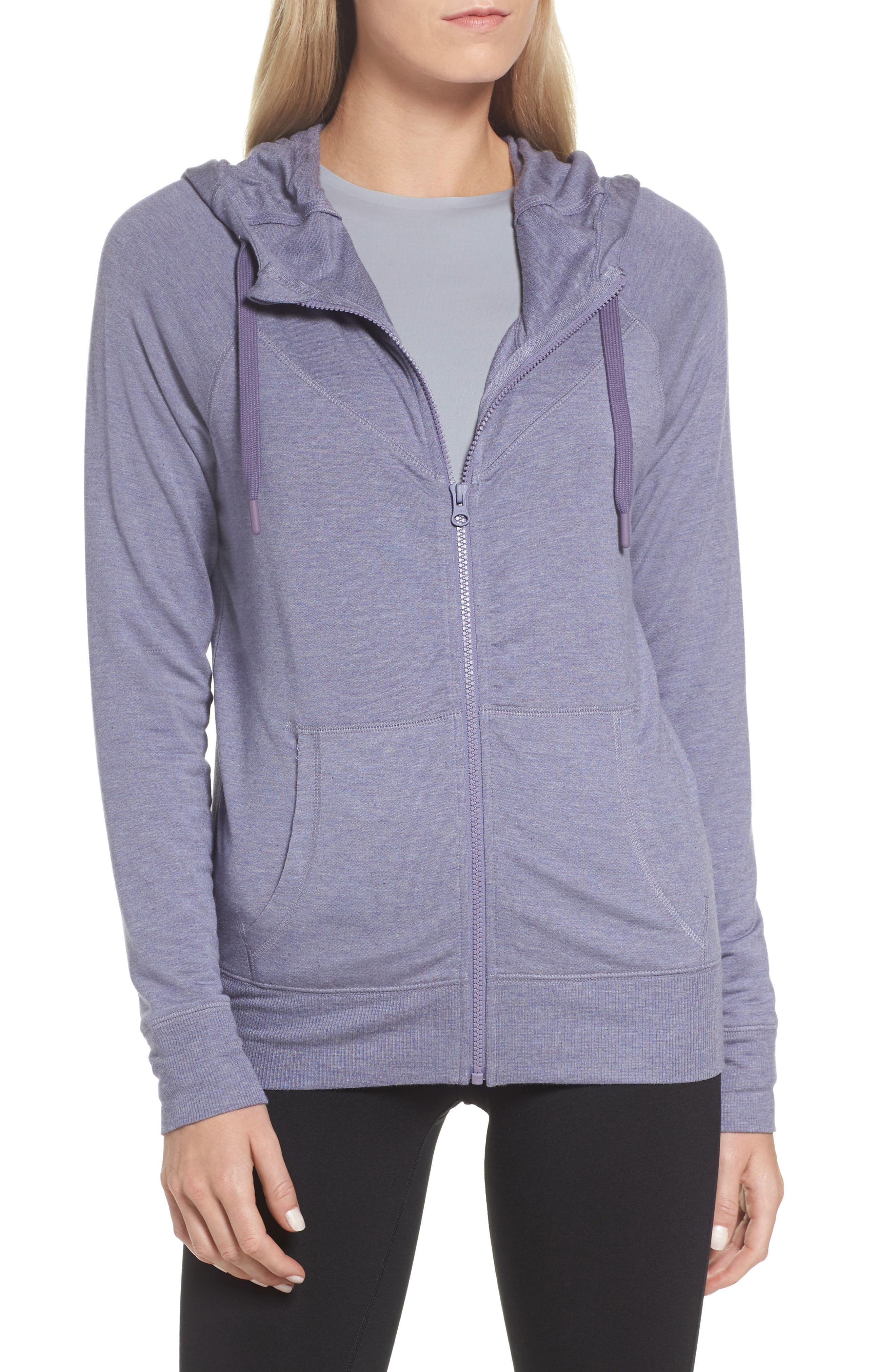 Well Played Zip Hoodie,                         Main,                         color, Purple Cadet Heather