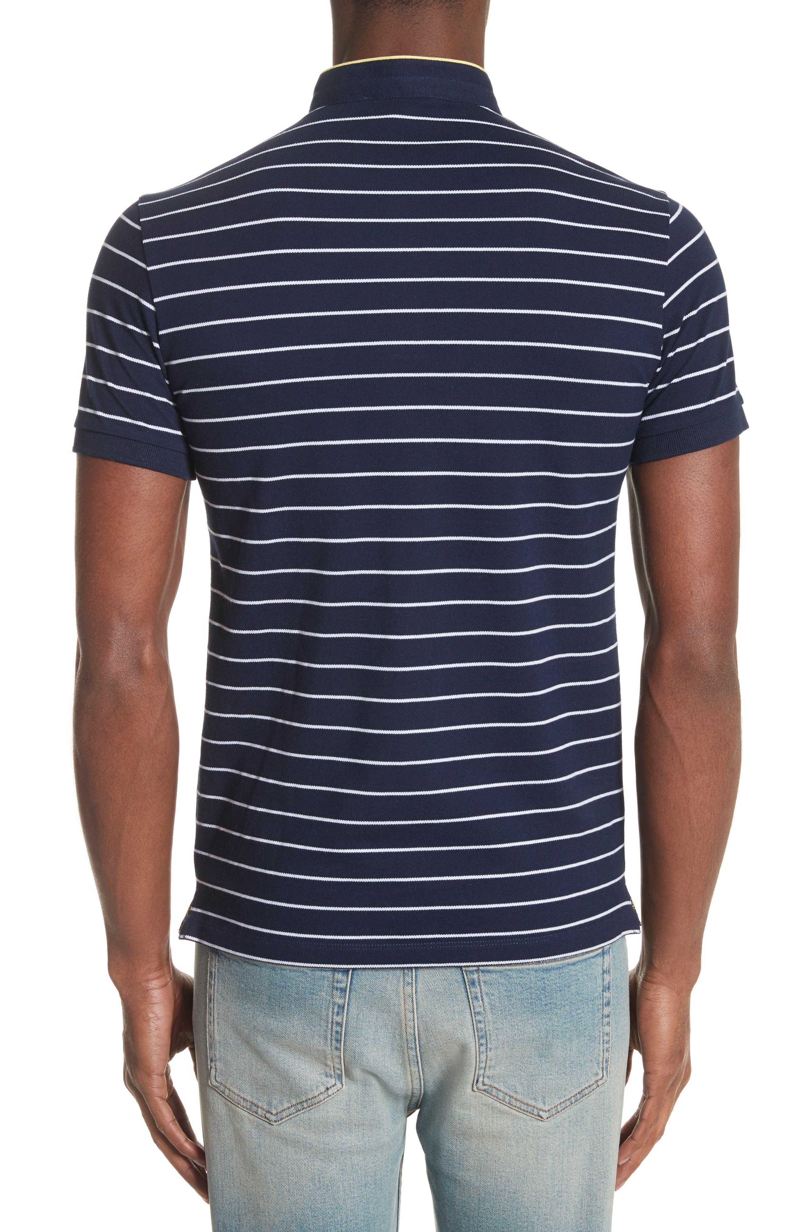 Stripe Officer Polo Shirt,                             Alternate thumbnail 2, color,                             Navy