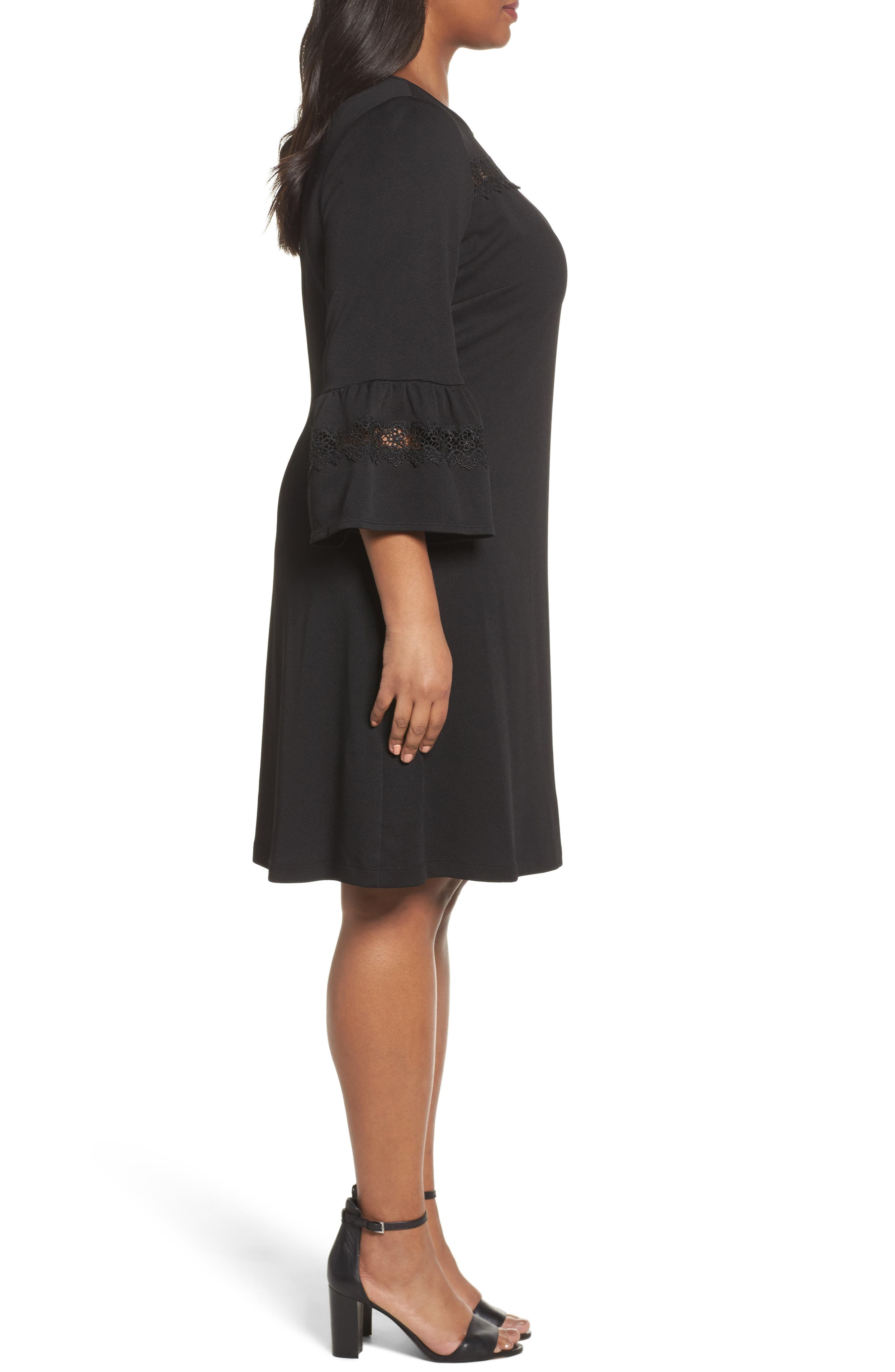 Alternate Image 3  - Gabby Skye Bell Sleeve Dress (Plus Size)
