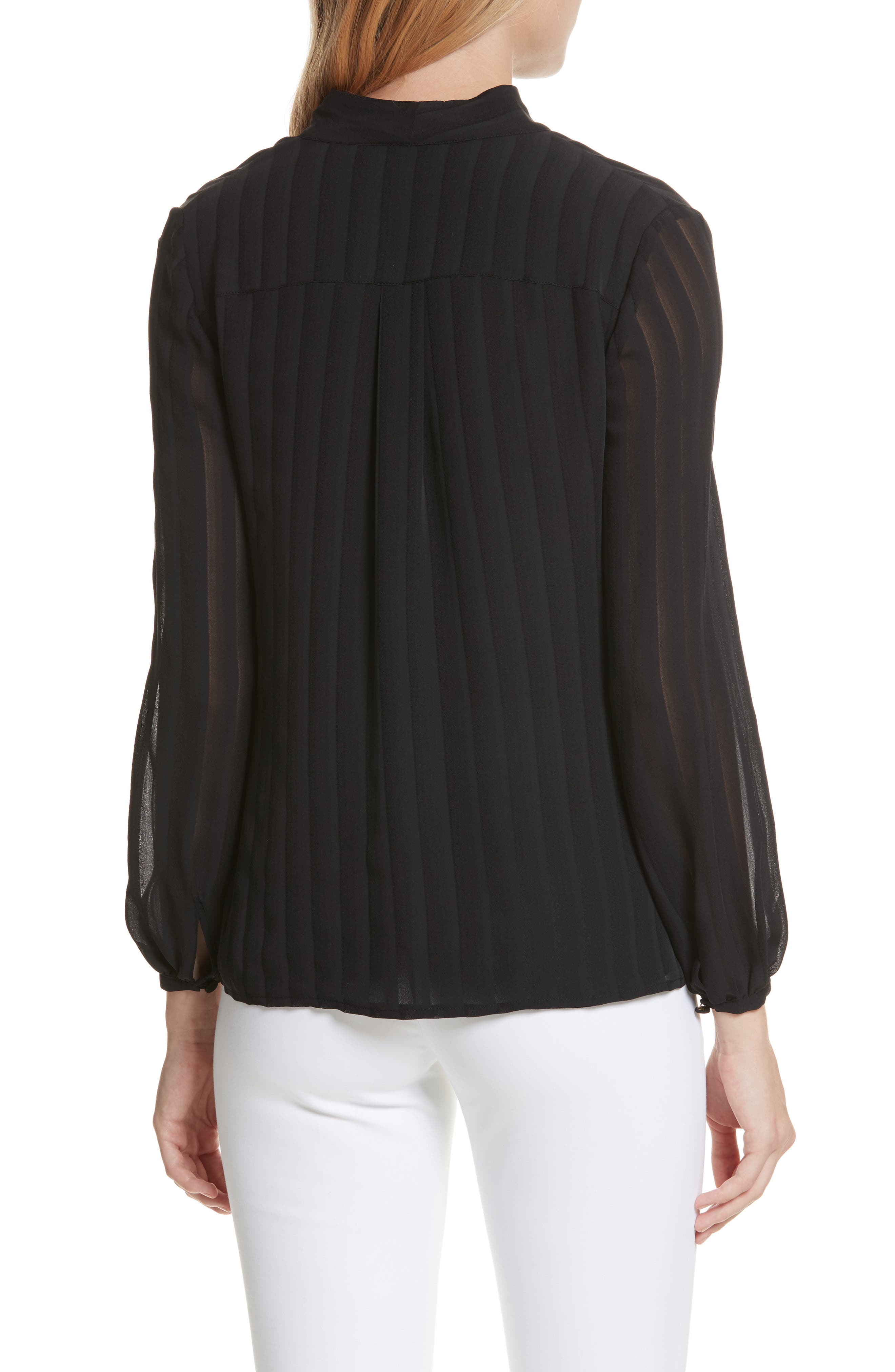 Alternate Image 2  - Tory Burch Emma Bow Neck Silk Blouse