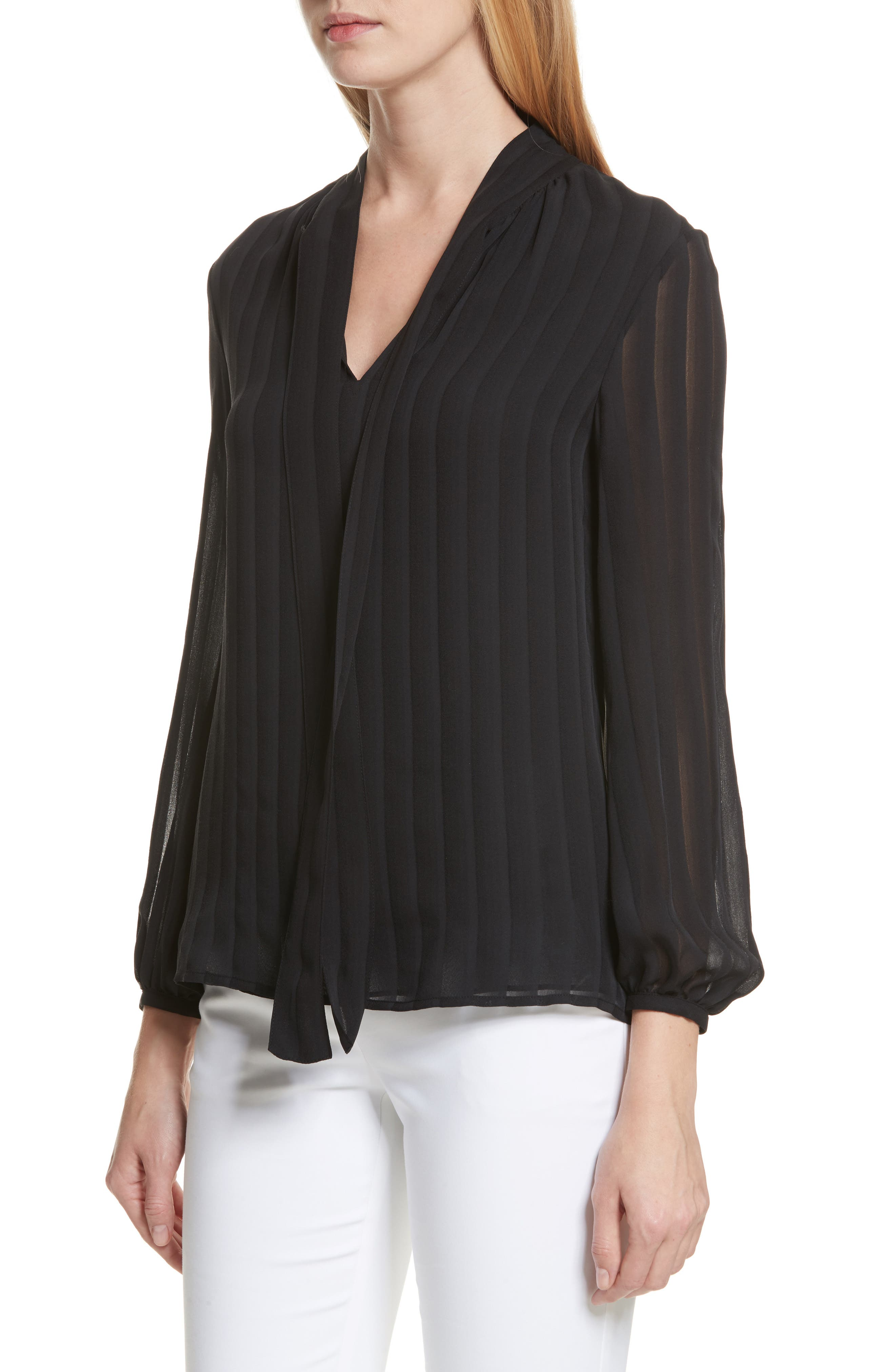 Alternate Image 4  - Tory Burch Emma Bow Neck Silk Blouse