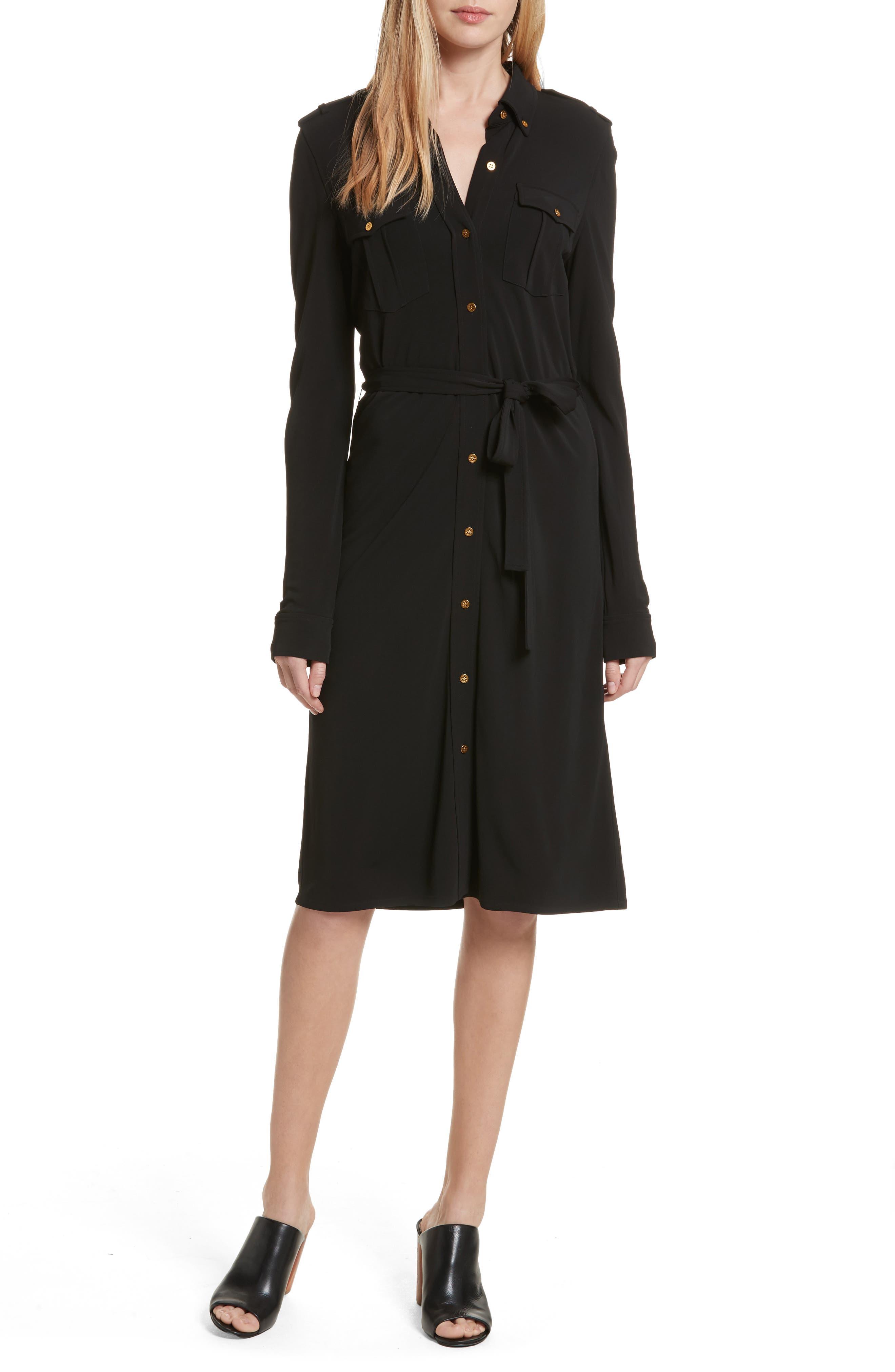 Edie Shirtdress,                         Main,                         color, Black