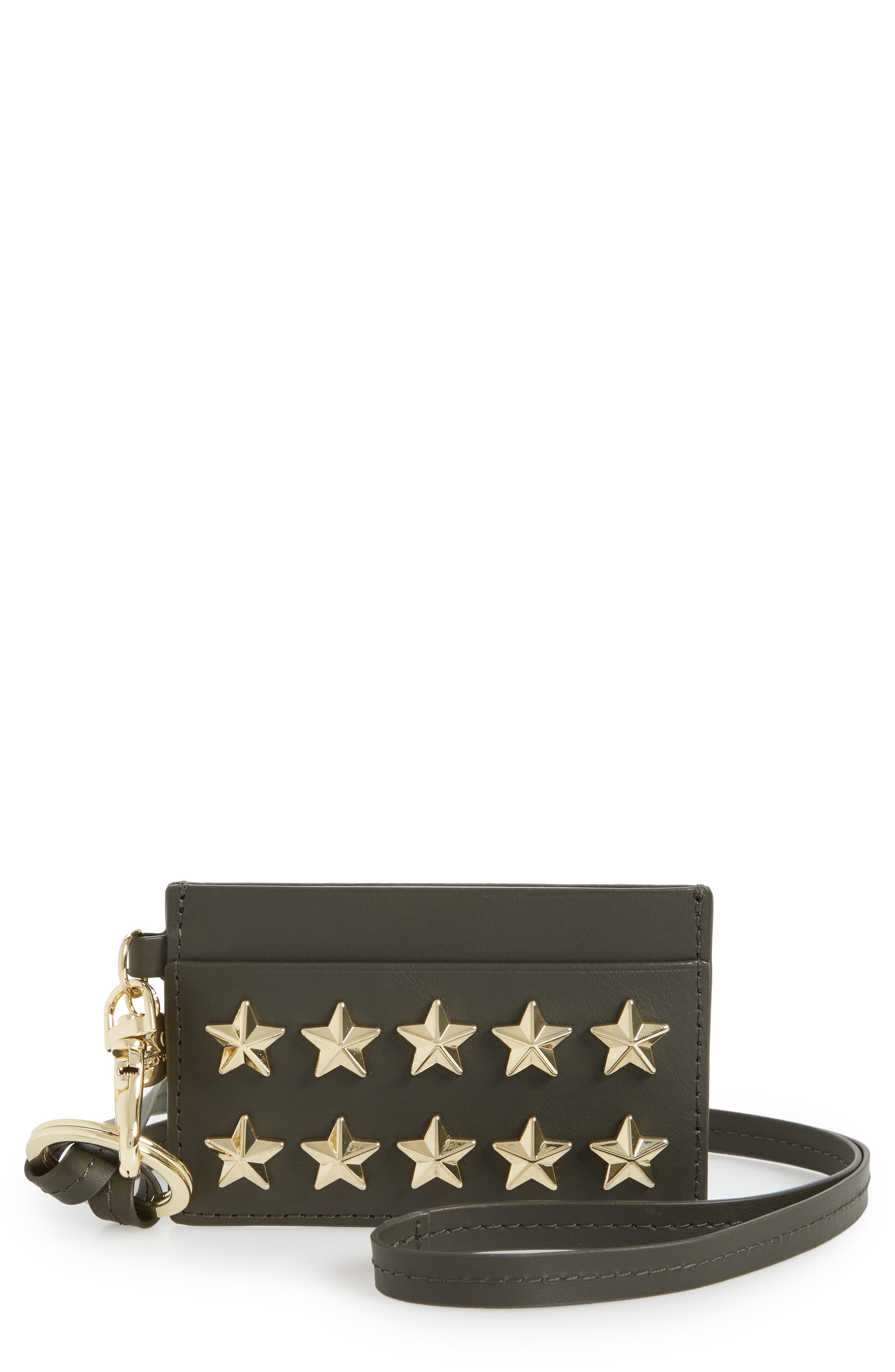 Star Stud Earthette Leather Lanyard,                         Main,                         color, Forest