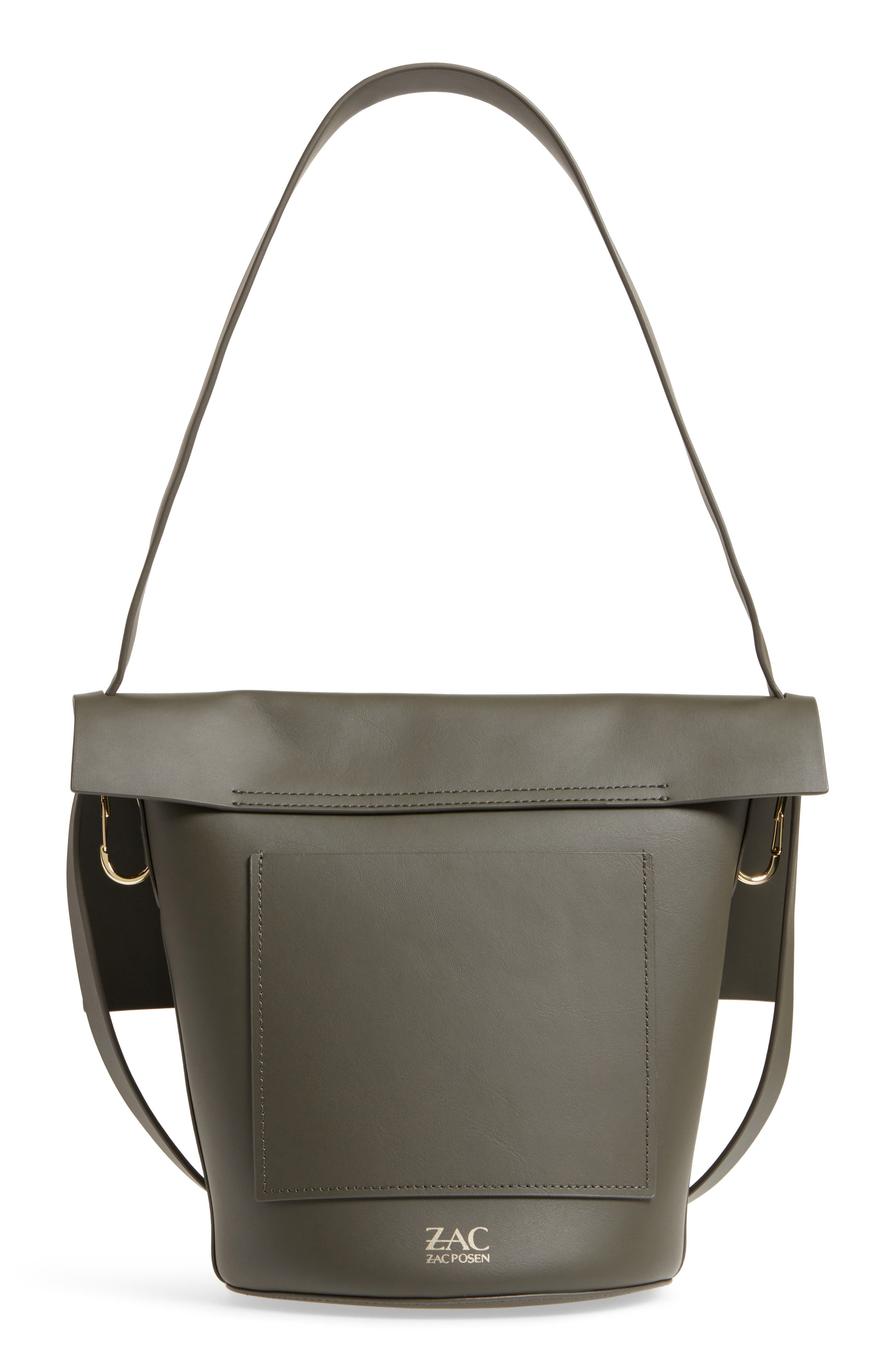 Belay Leather Bucket Bag,                             Alternate thumbnail 3, color,                             Forest