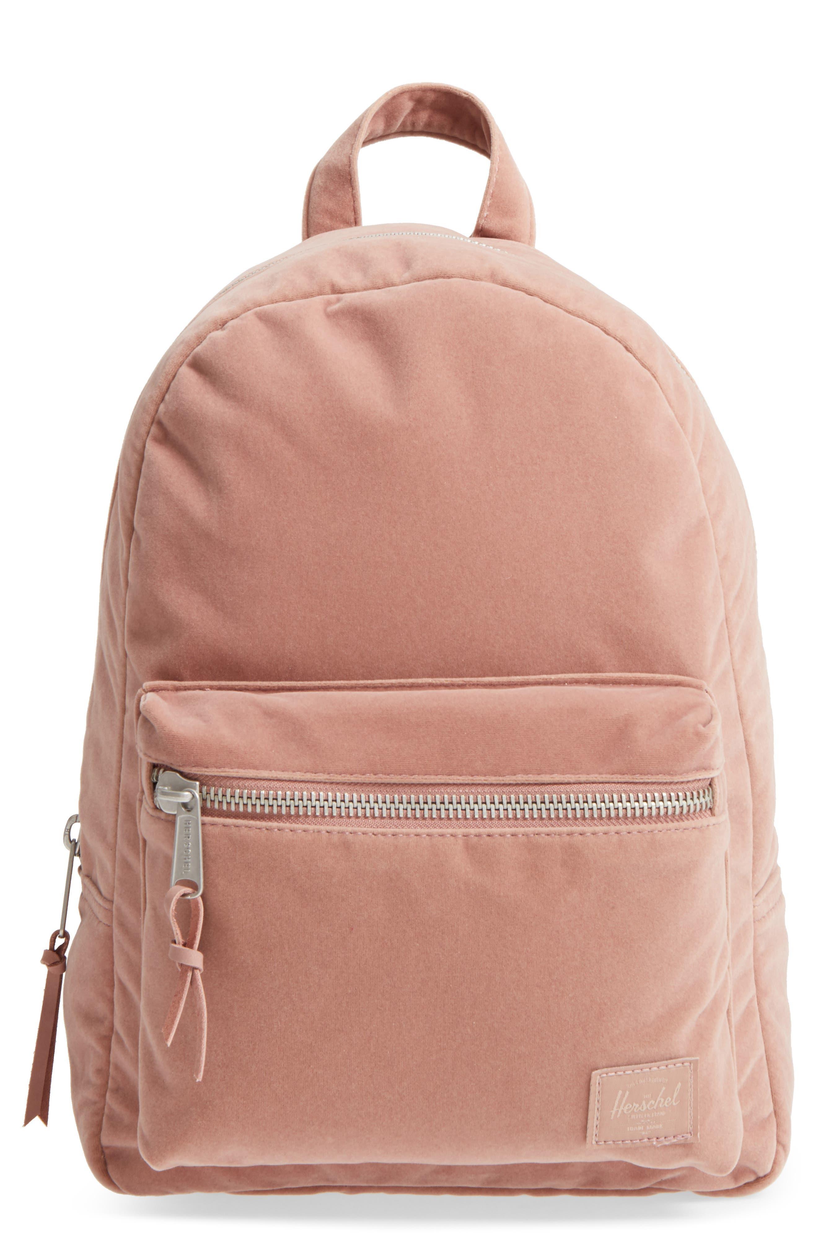 X-Small Velvet Grove Backpack,                             Main thumbnail 1, color,                             Ash Rose