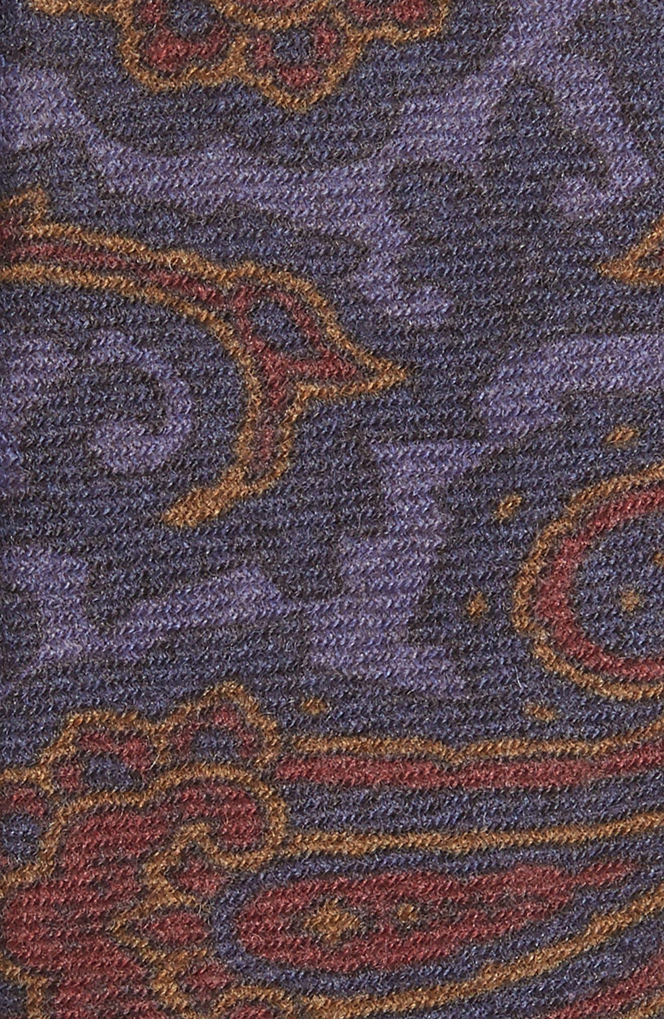 Paisley Wool Tie,                             Alternate thumbnail 2, color,                             Blue