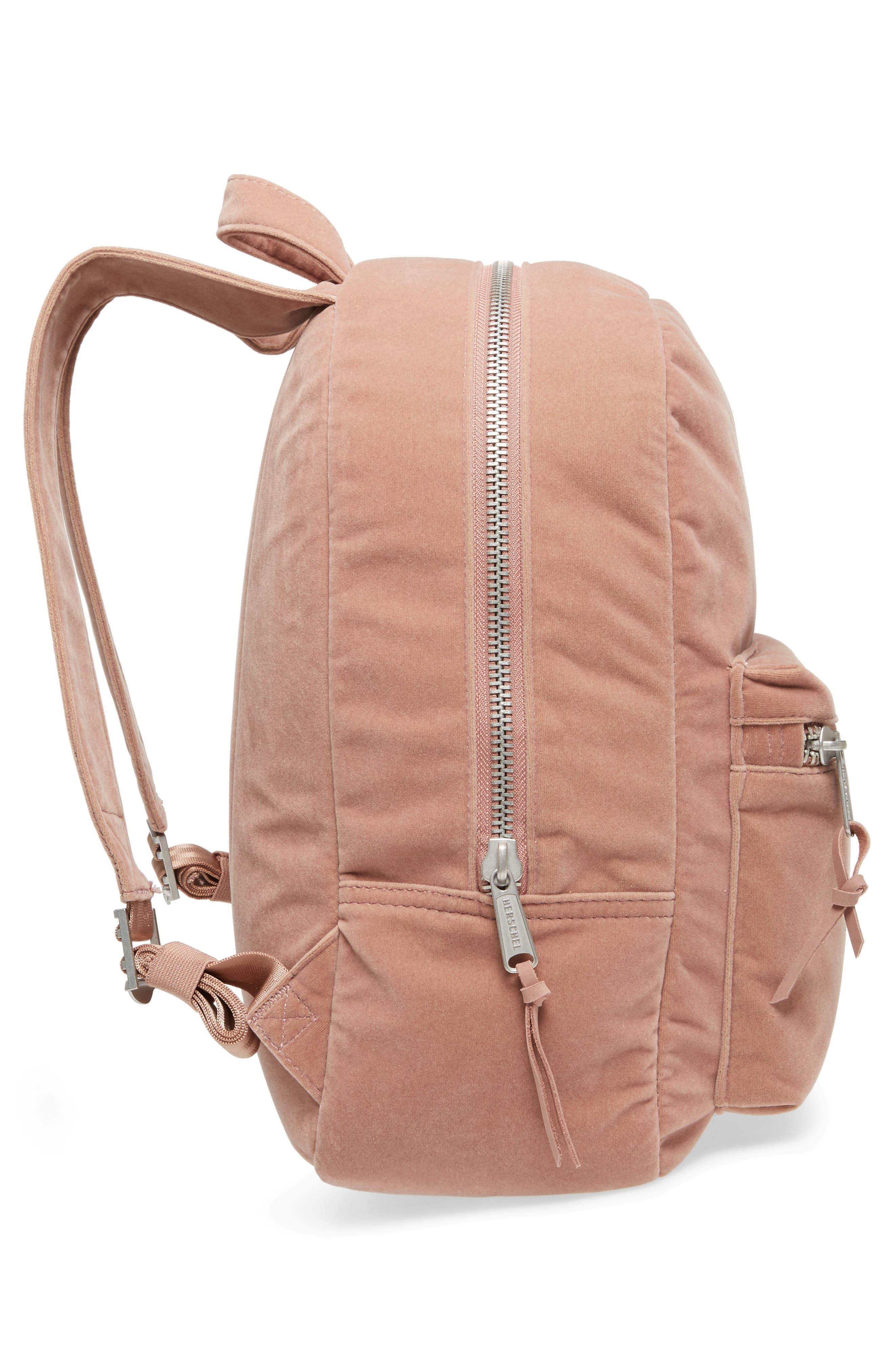 X-Small Velvet Grove Backpack,                             Alternate thumbnail 5, color,                             Ash Rose