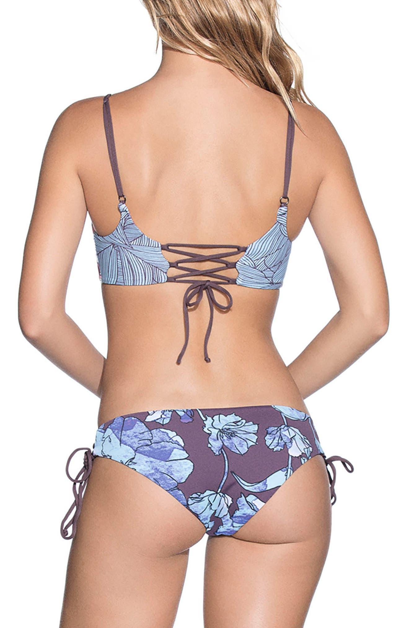 Providence Island Signature Rervsible Bikini Bottoms,                             Alternate thumbnail 4, color,                             Light Blue Multi