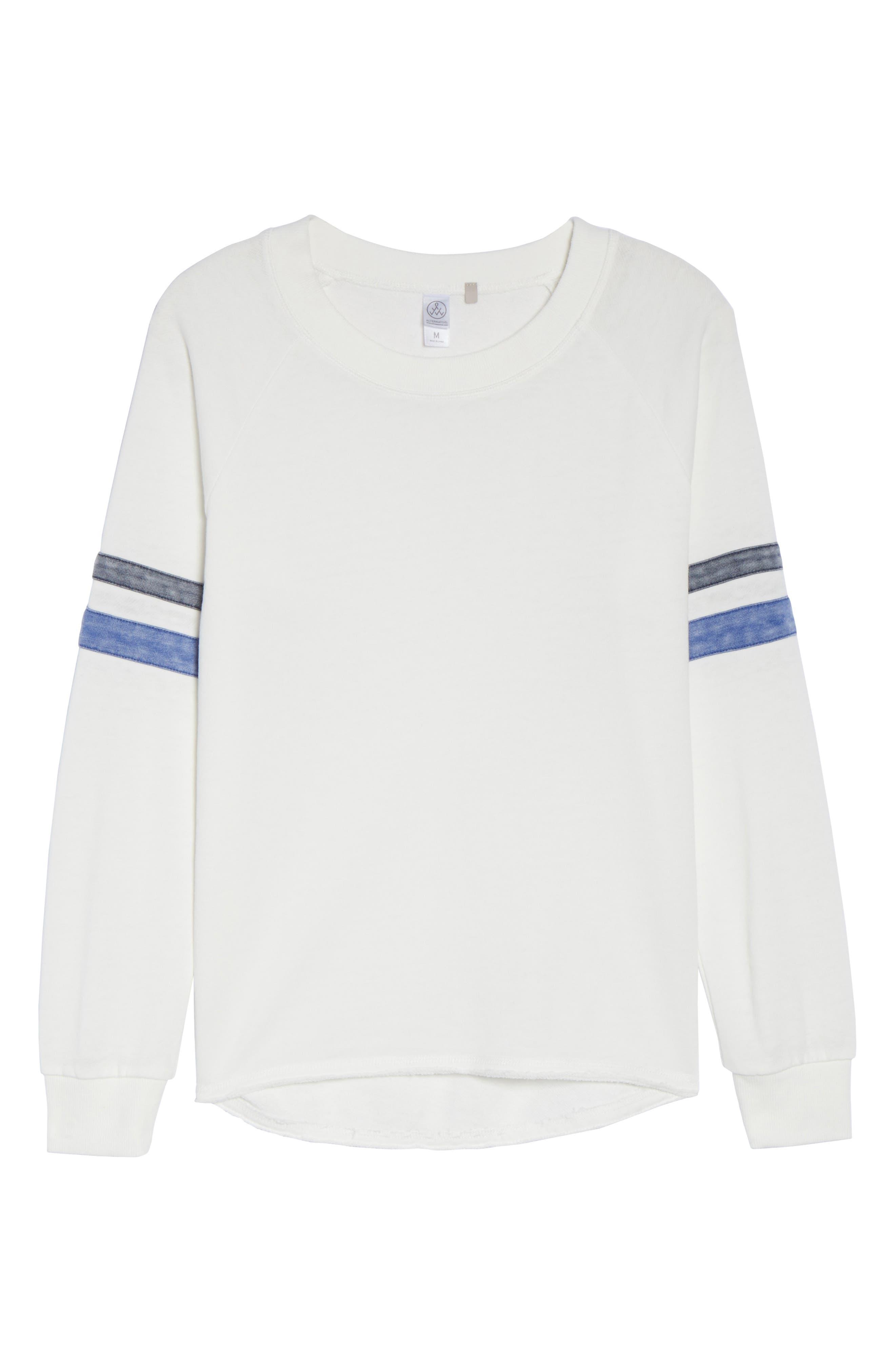 Lazy Day Sweatshirt,                             Alternate thumbnail 5, color,                             Ivory/ Dark Navy/ Pacific Blue