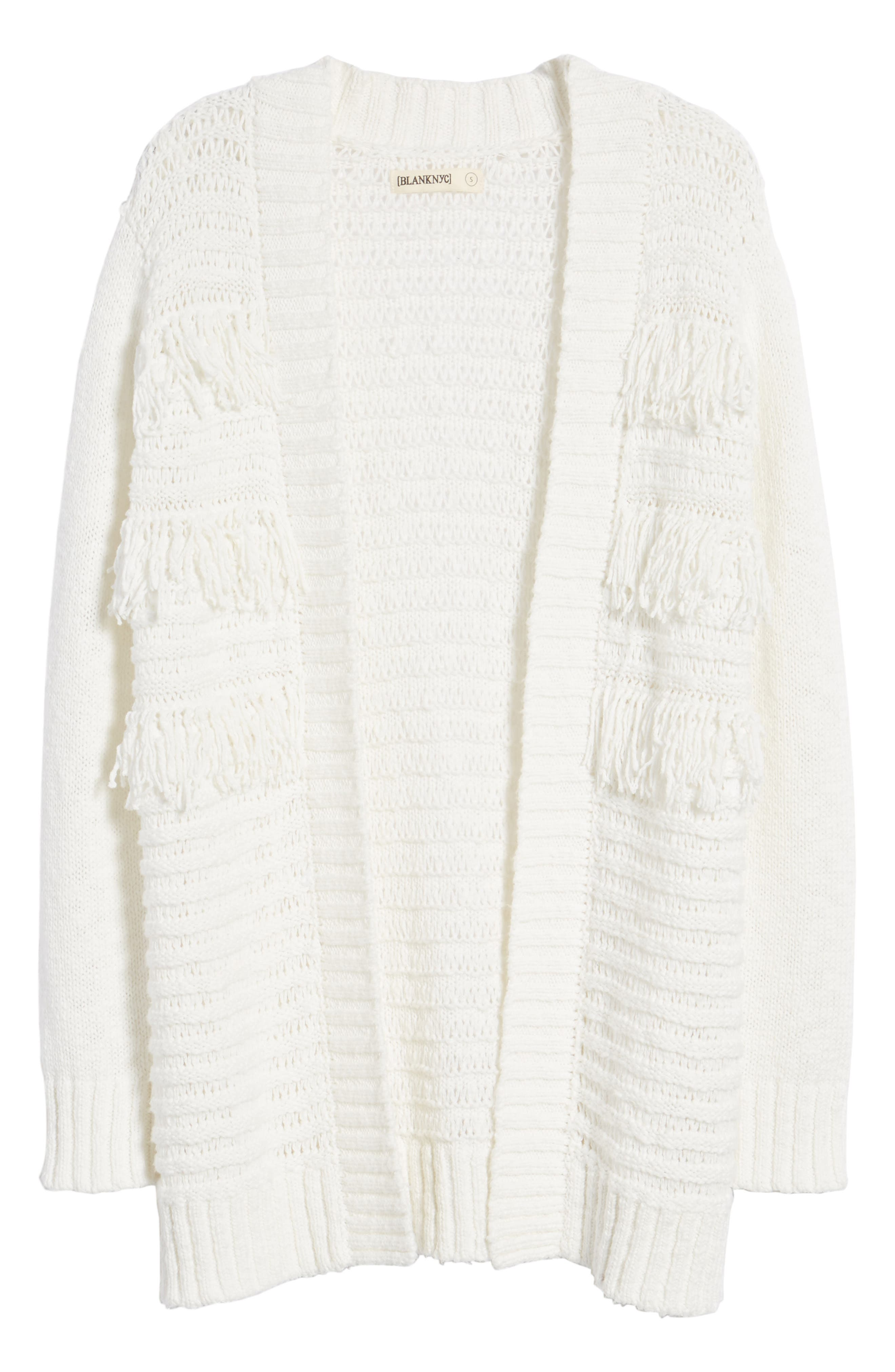 Open Cardigan,                             Alternate thumbnail 6, color,                             On The Prowl/ Ivory