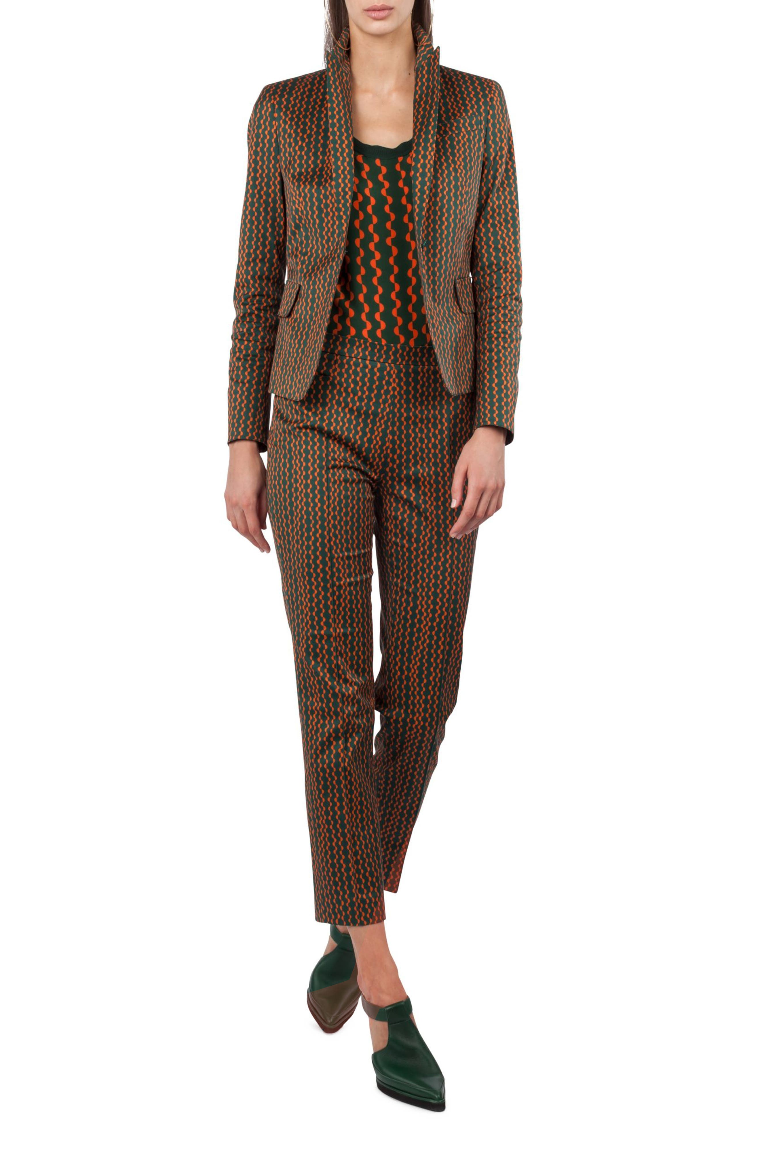 Main Image - Akris punto Print Stretch Cotton Blazer
