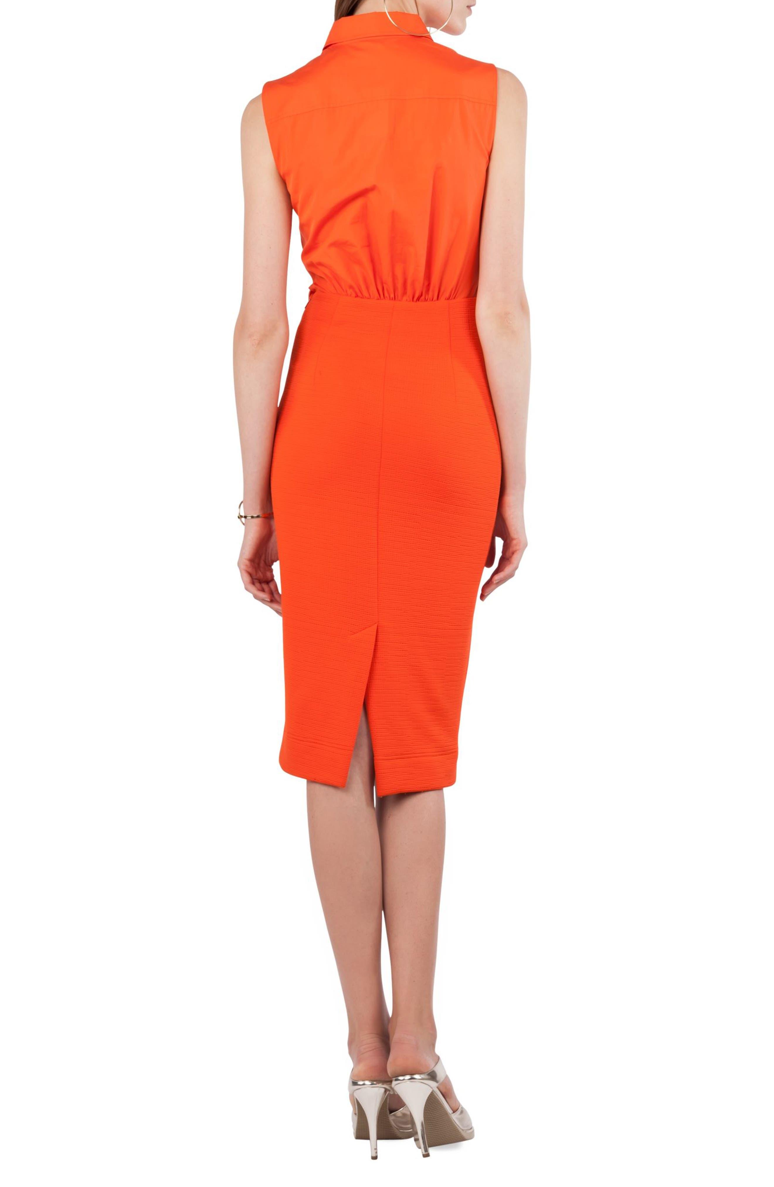 Kleid Layered Dress,                             Alternate thumbnail 2, color,                             Papaya