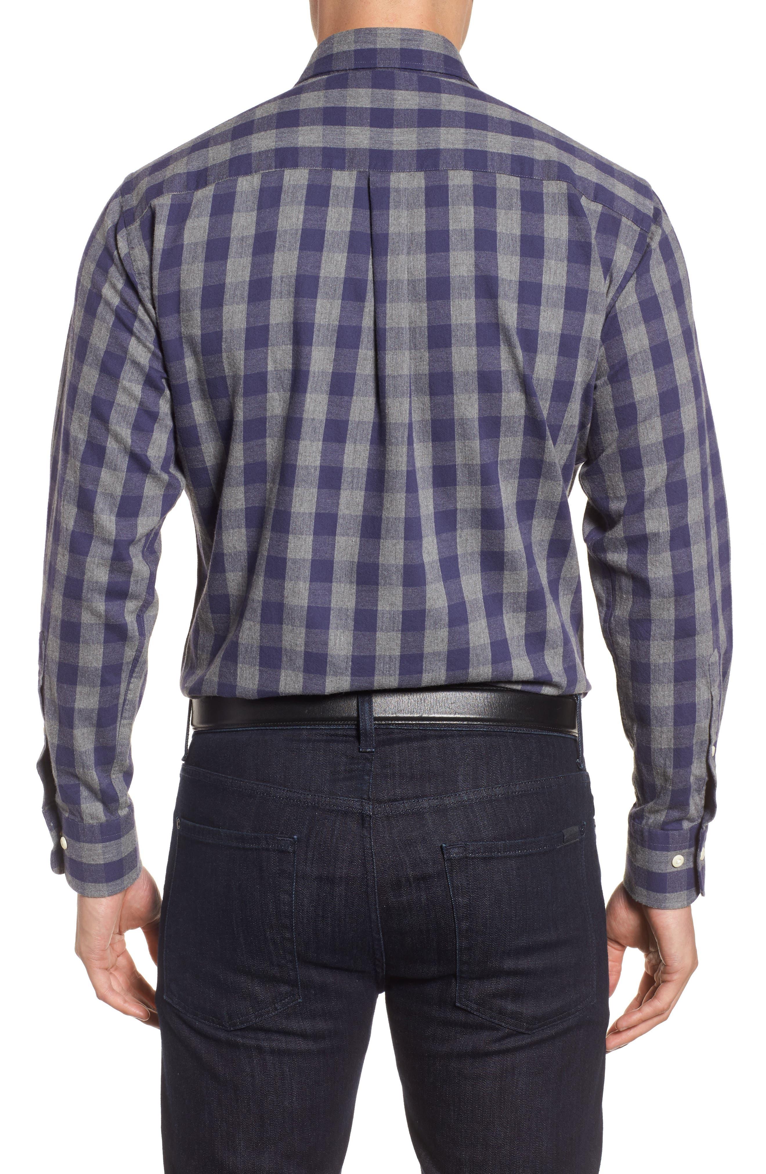 Buffalo Buddy Regular Fit Check Sport Shirt,                             Alternate thumbnail 2, color,                             Atlantic Blue