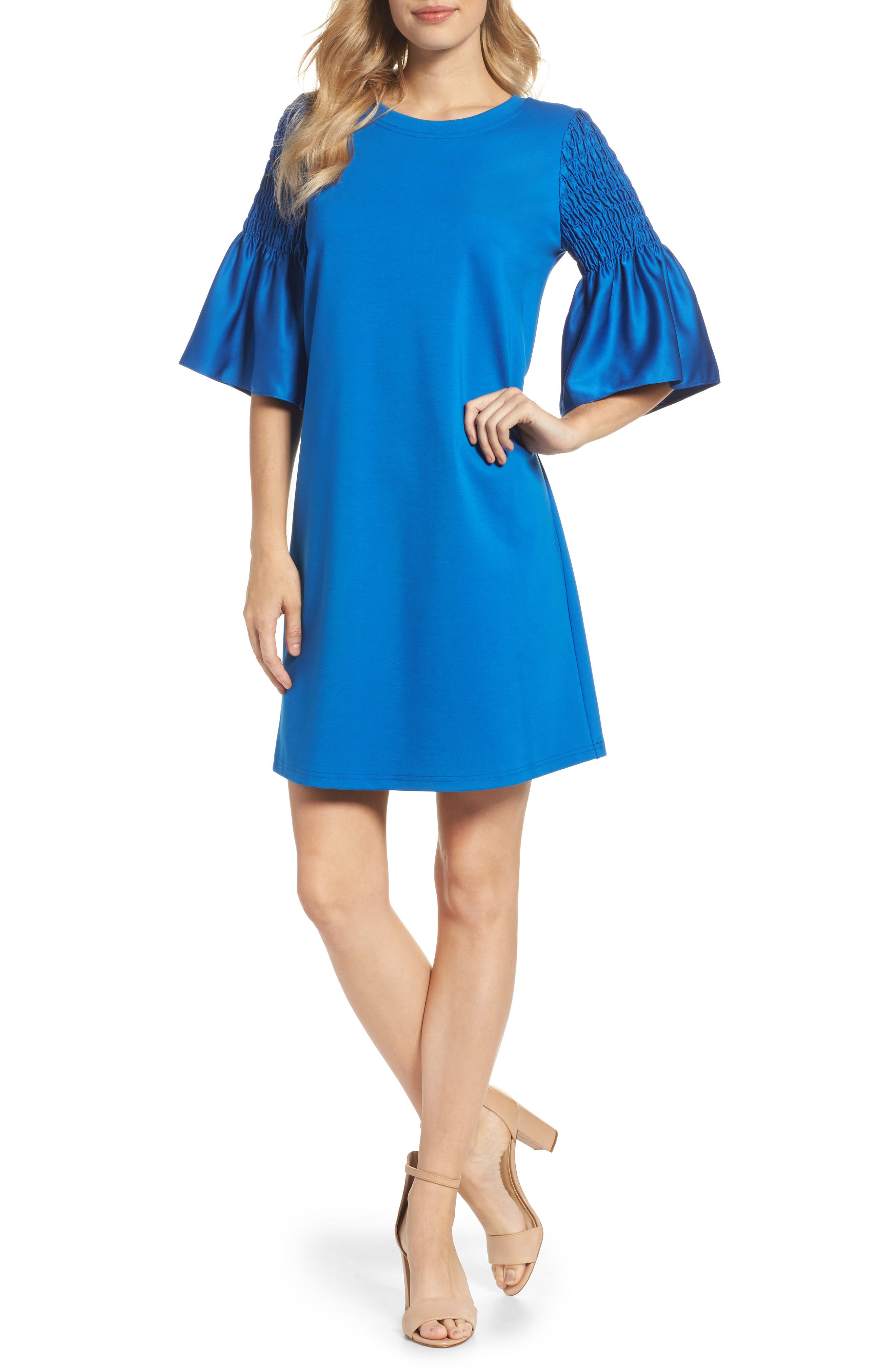 Suzette Shift Dress,                             Main thumbnail 1, color,                             Cobalt
