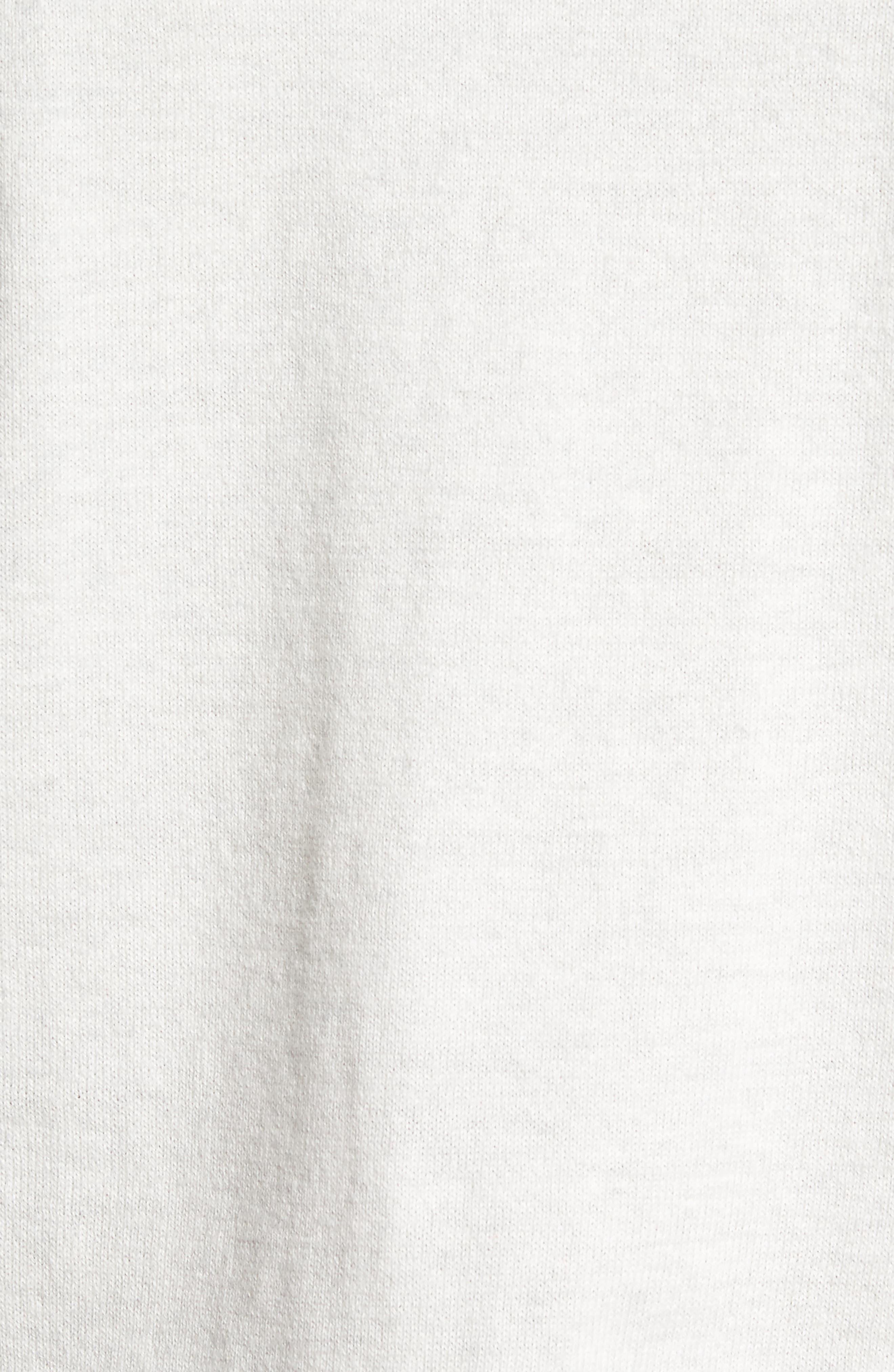 Saddle Shoulder Cotton & Cashmere Sweater,                             Alternate thumbnail 5, color,                             White Marl