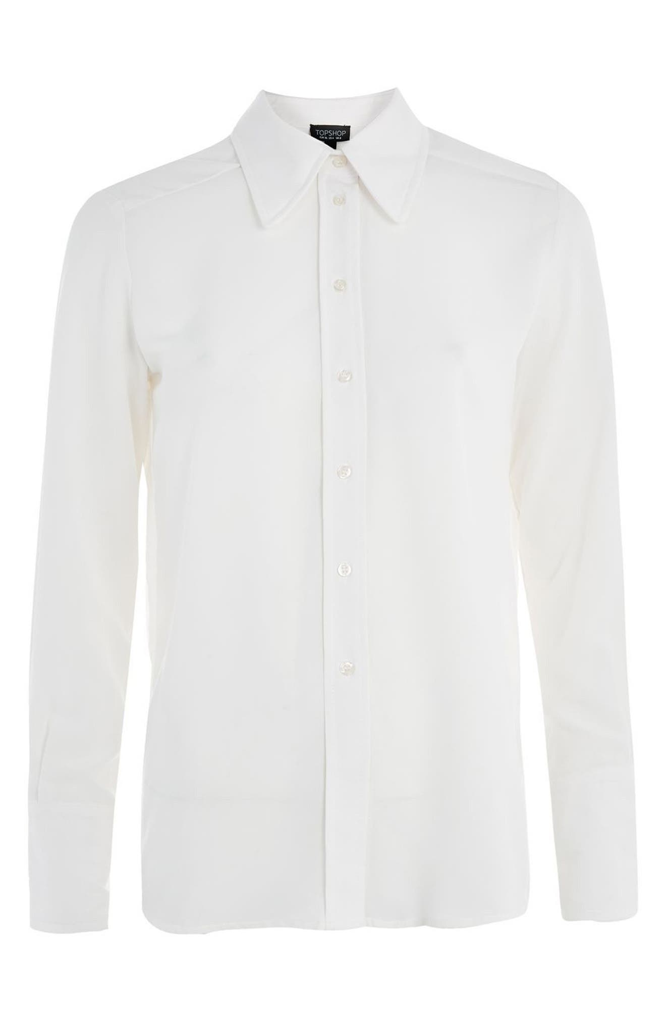 Alternate Image 4  - Topshop '70s Collar Shirt