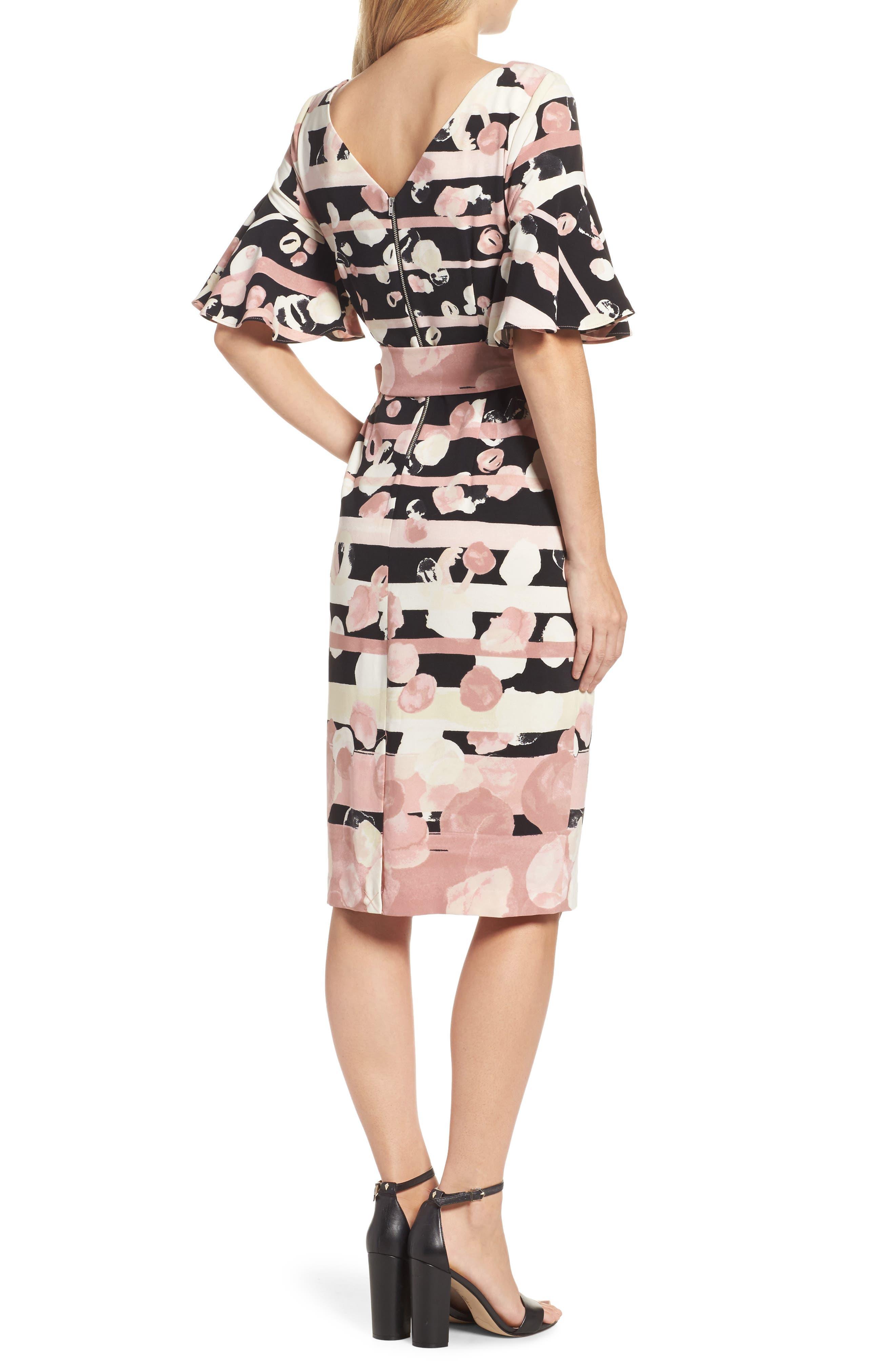 Stripe Sheath Dress,                             Alternate thumbnail 2, color,                             Blush/ Ivory