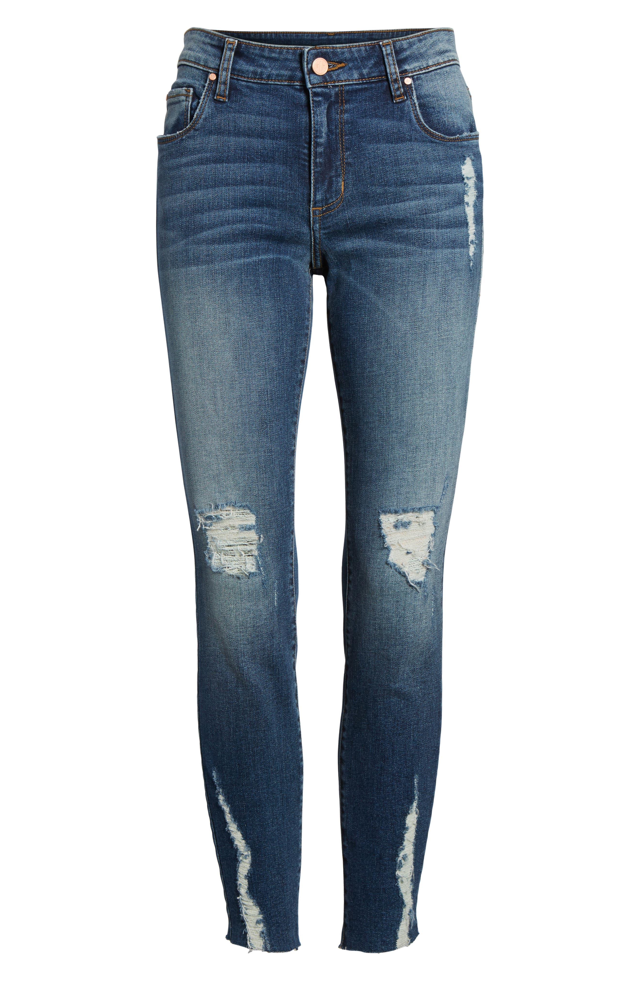 Decon Distressed Skinny Jeans,                             Alternate thumbnail 6, color,                             Vintage