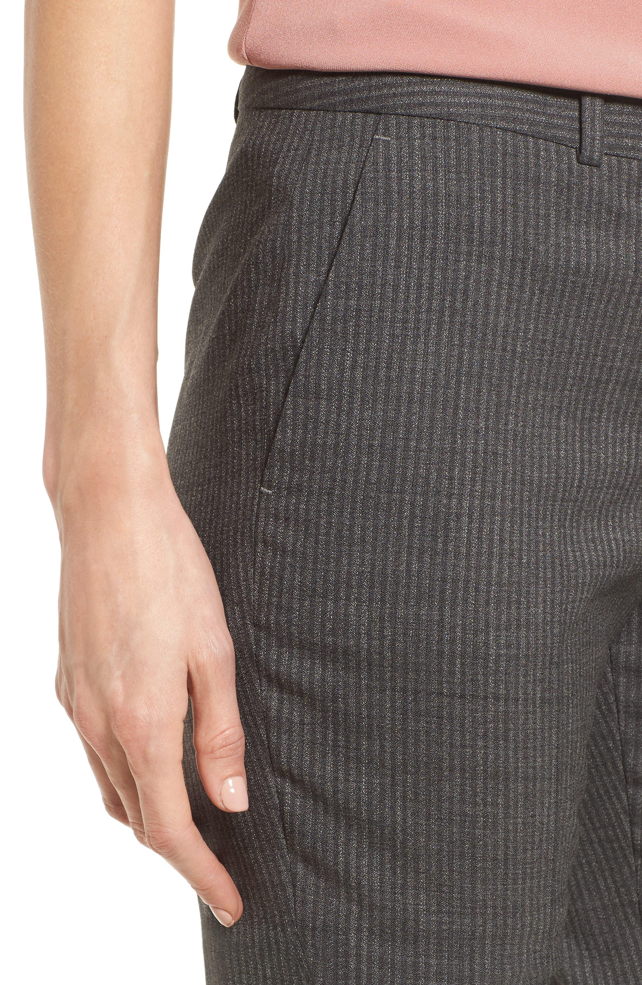 Titana Stretch Wool Trousers,                             Alternate thumbnail 4, color,                             Dark Grey Fantasy