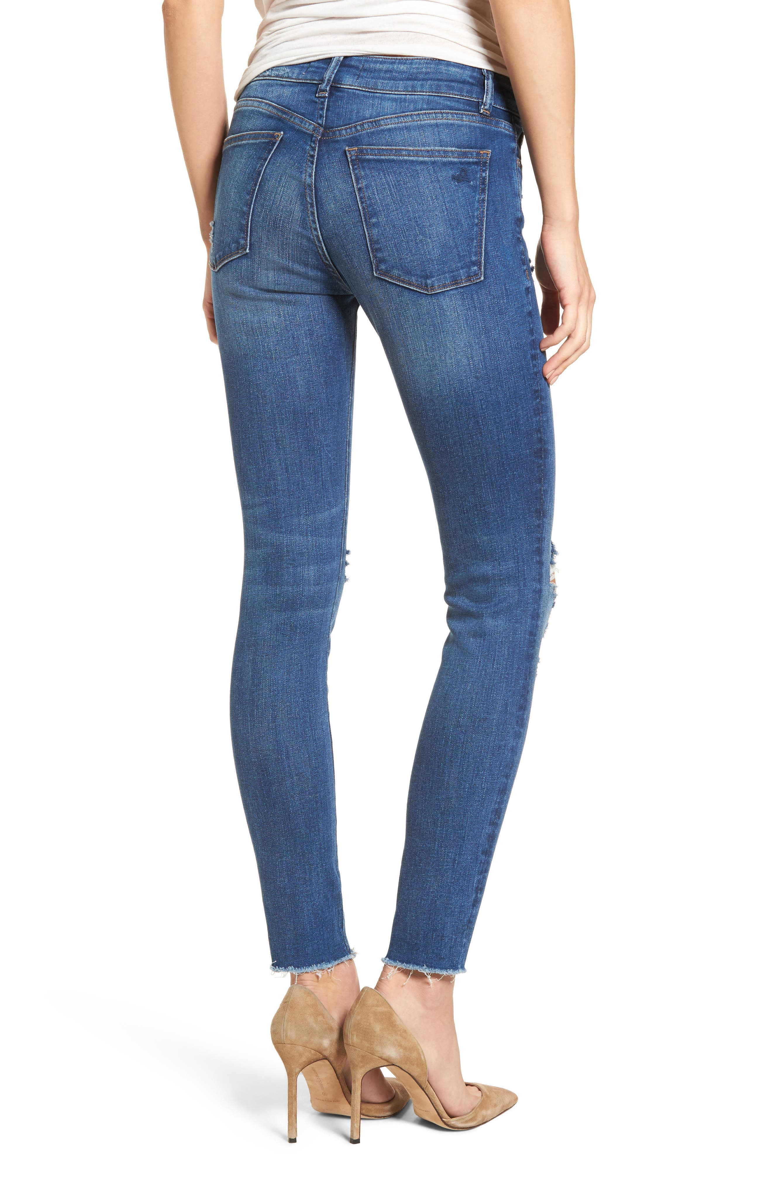 Margaux Instasculpt Ankle Skinny Jeans,                             Alternate thumbnail 2, color,                             Lowell