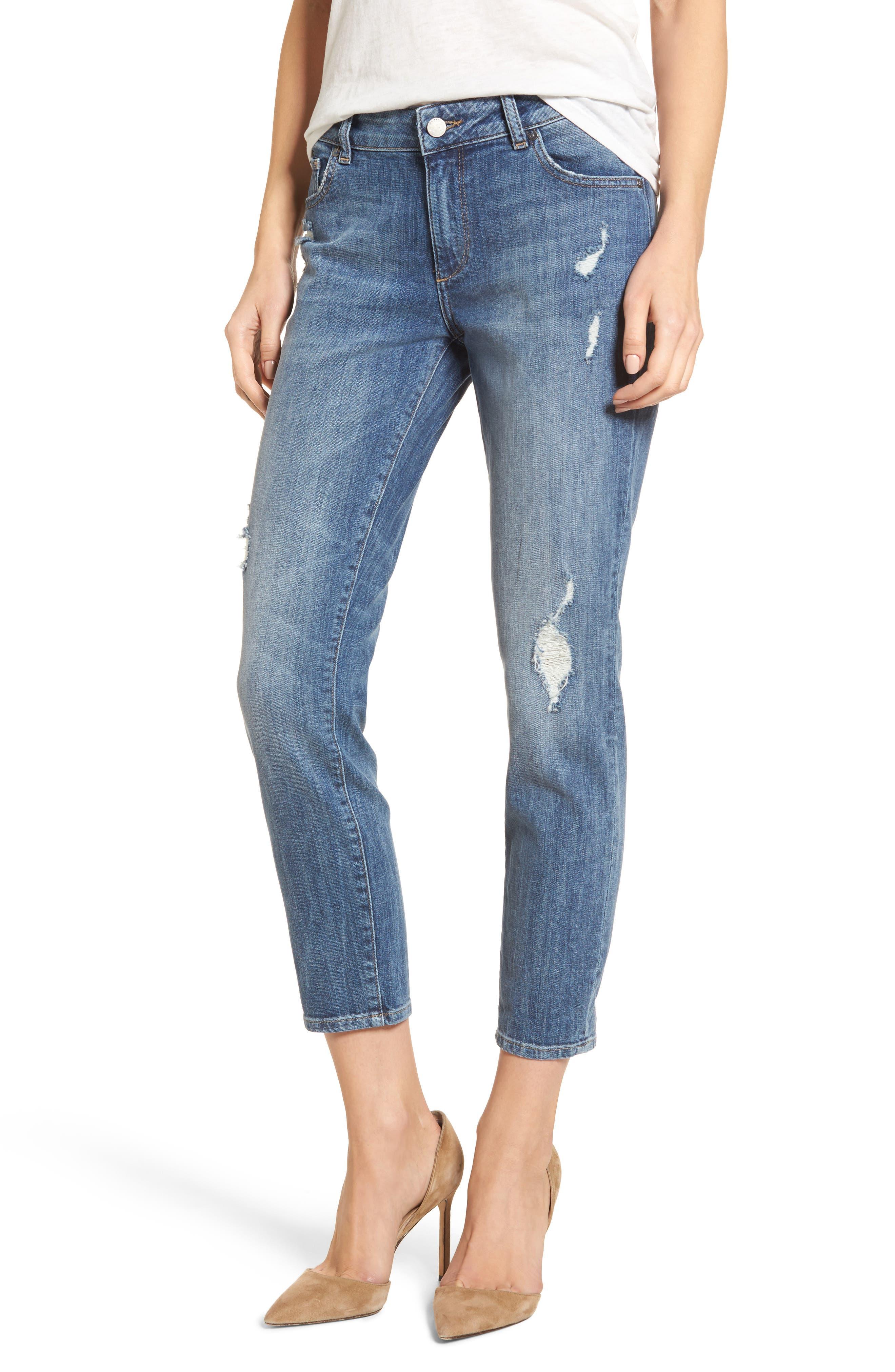 Davis Ankle Girlfriend Jeans,                         Main,                         color, Alamo