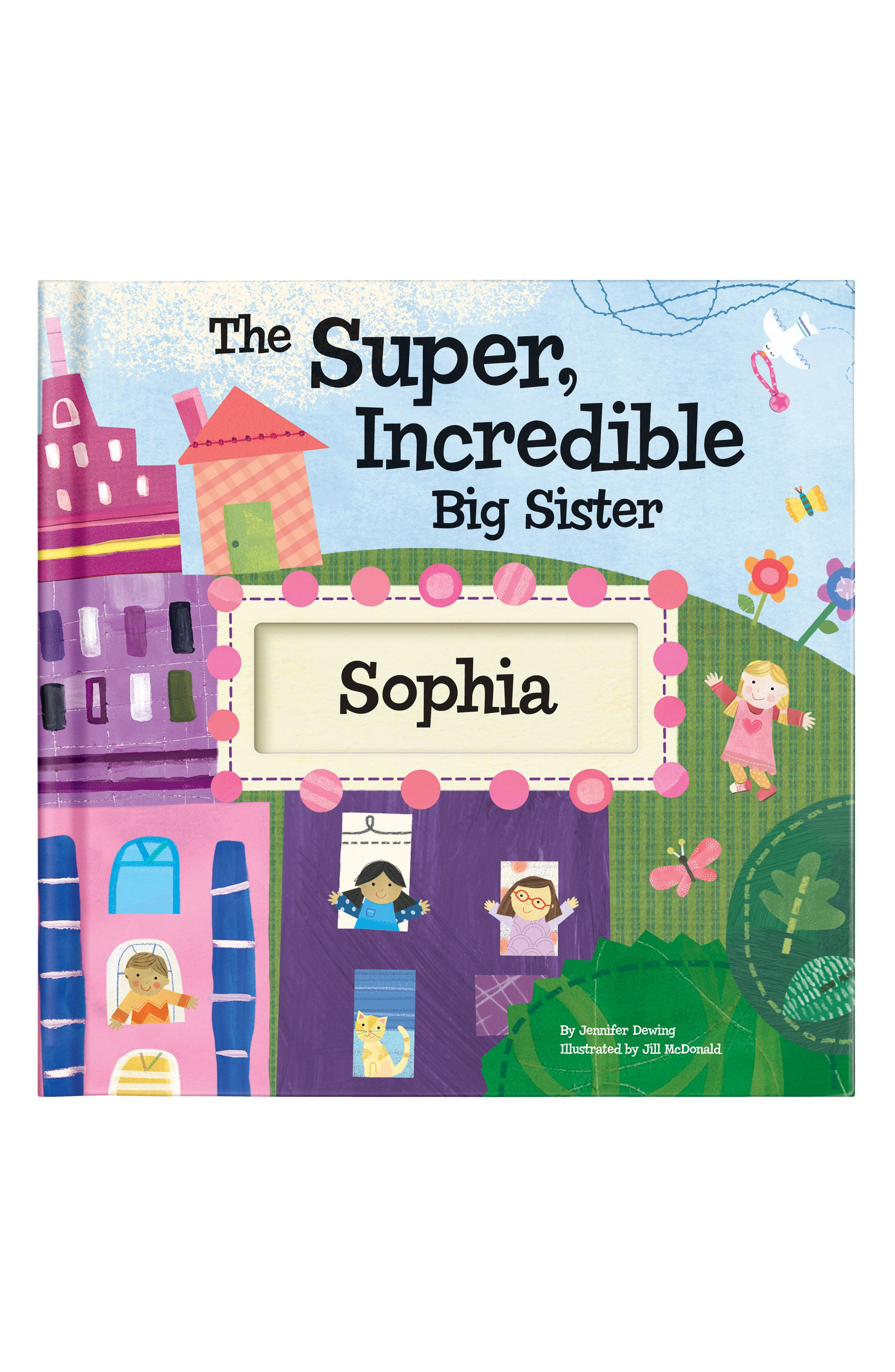 Main Image - 'The Super, Incredible Big Sister' Personalized Hardcover Book & Medal