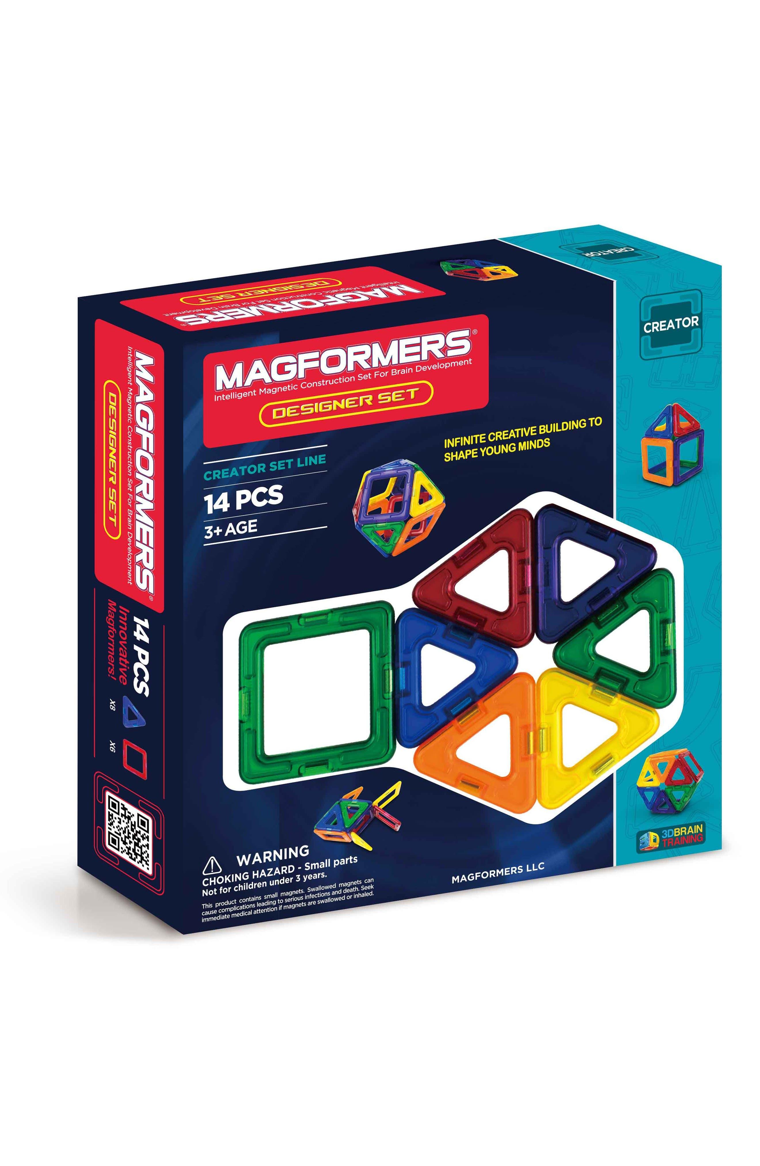 14-Piece Designer Magnetic 3D Construction Set,                         Main,                         color, Multi