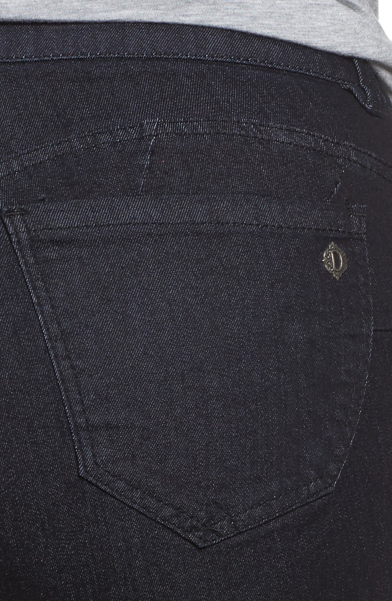 Ab-Solution Stretch Straight Leg Jeans,                             Alternate thumbnail 4, color,                             Indigo
