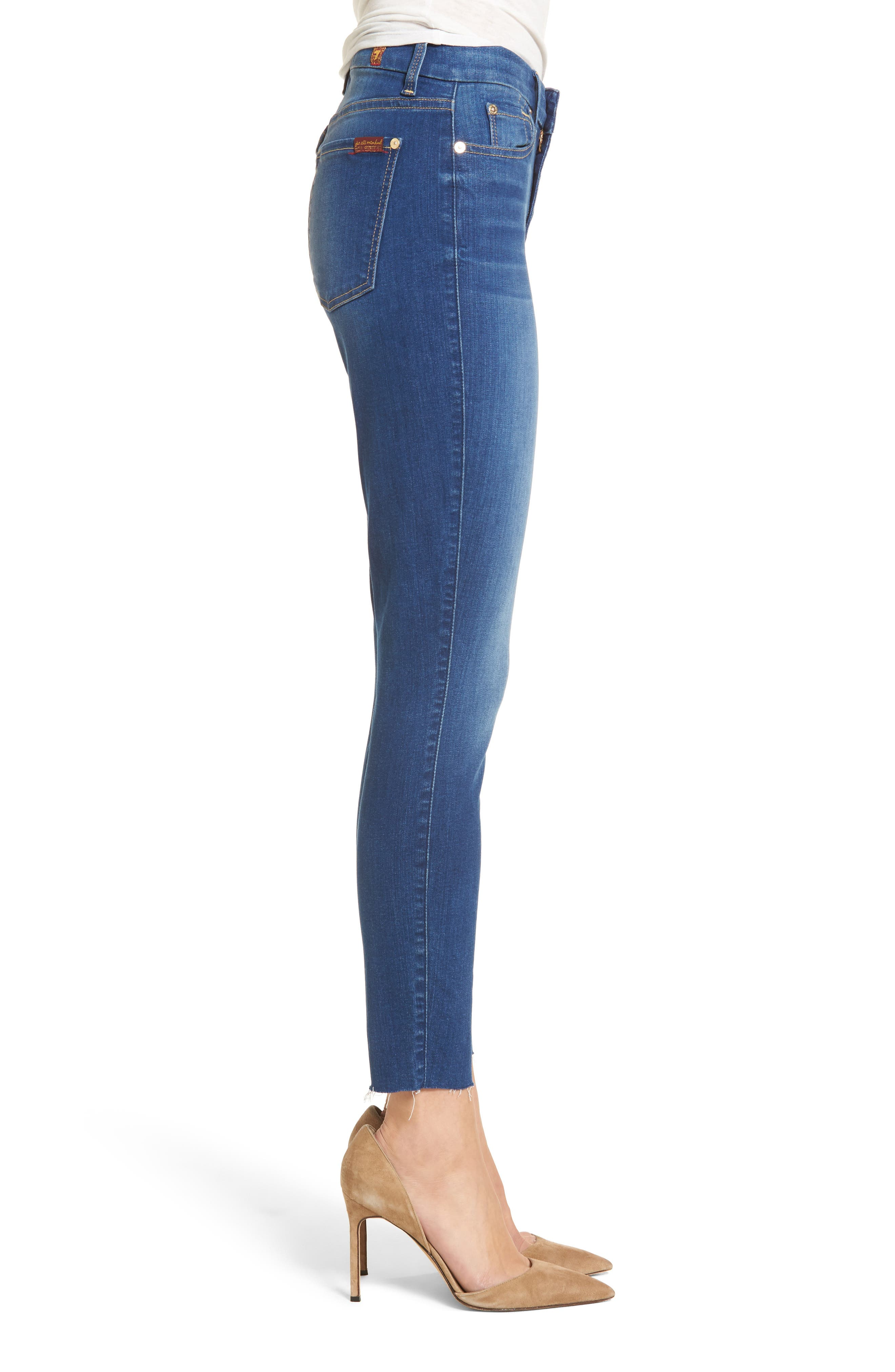 Alternate Image 3  - 7 For All Mankind® High Waist Ankle Skinny Jeans (Manhattan)
