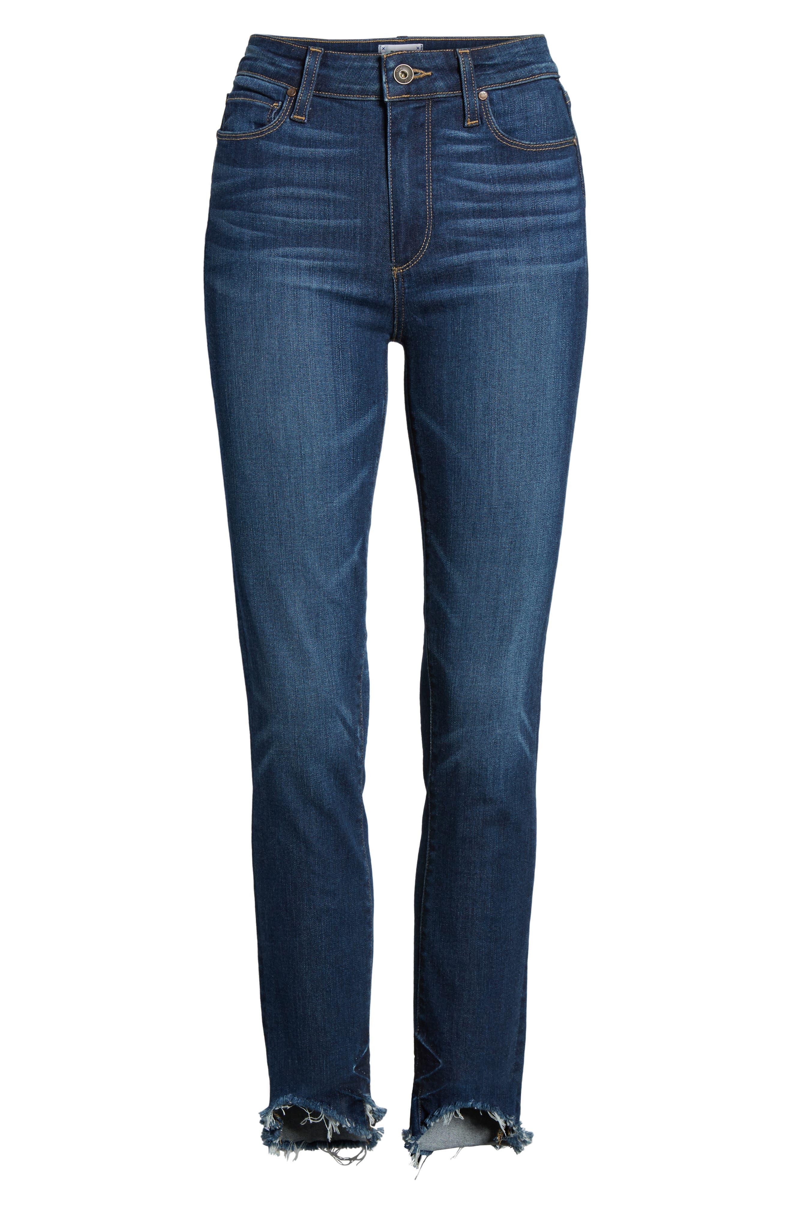Transcend Vintage - Hoxton High Waist Ankle Skinny Jeans,                             Alternate thumbnail 6, color,                             Auburn