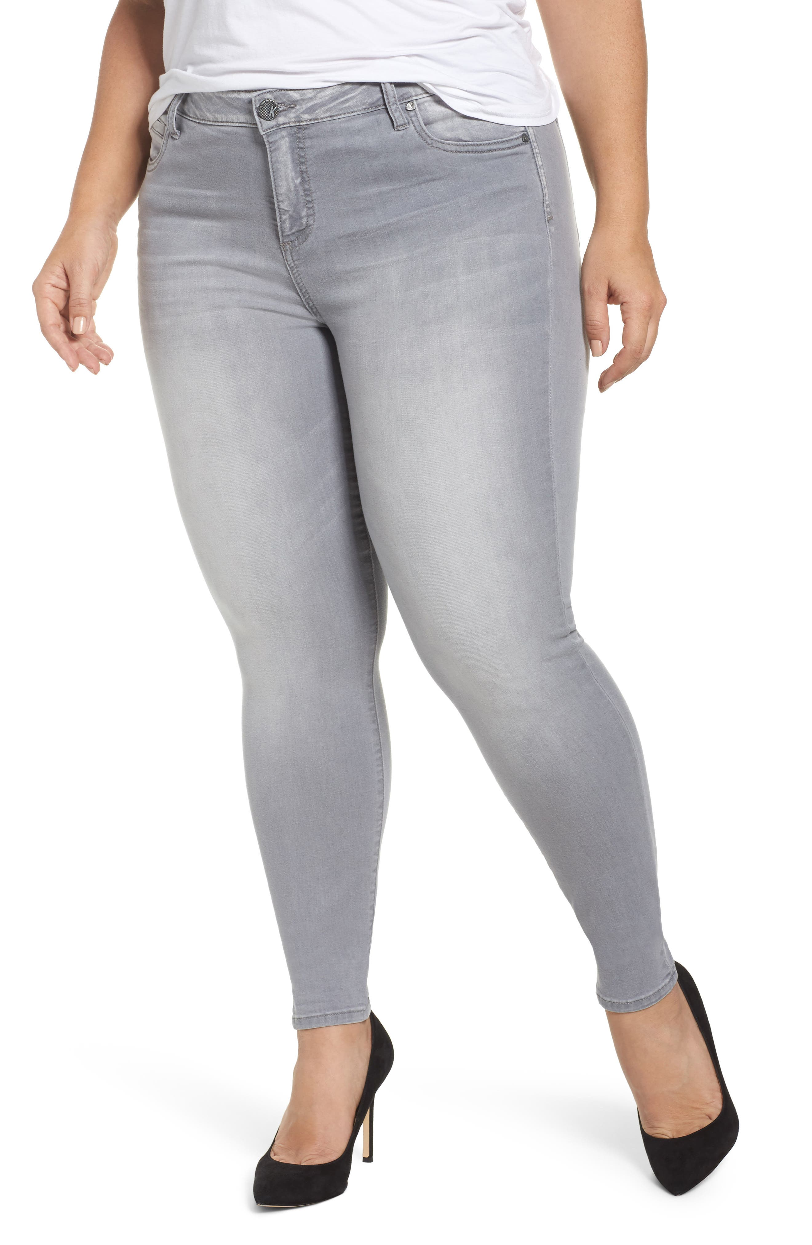 Main Image - Kut from the Kloth Mia Skinny Jeans (Prevailed) (Plus Size)