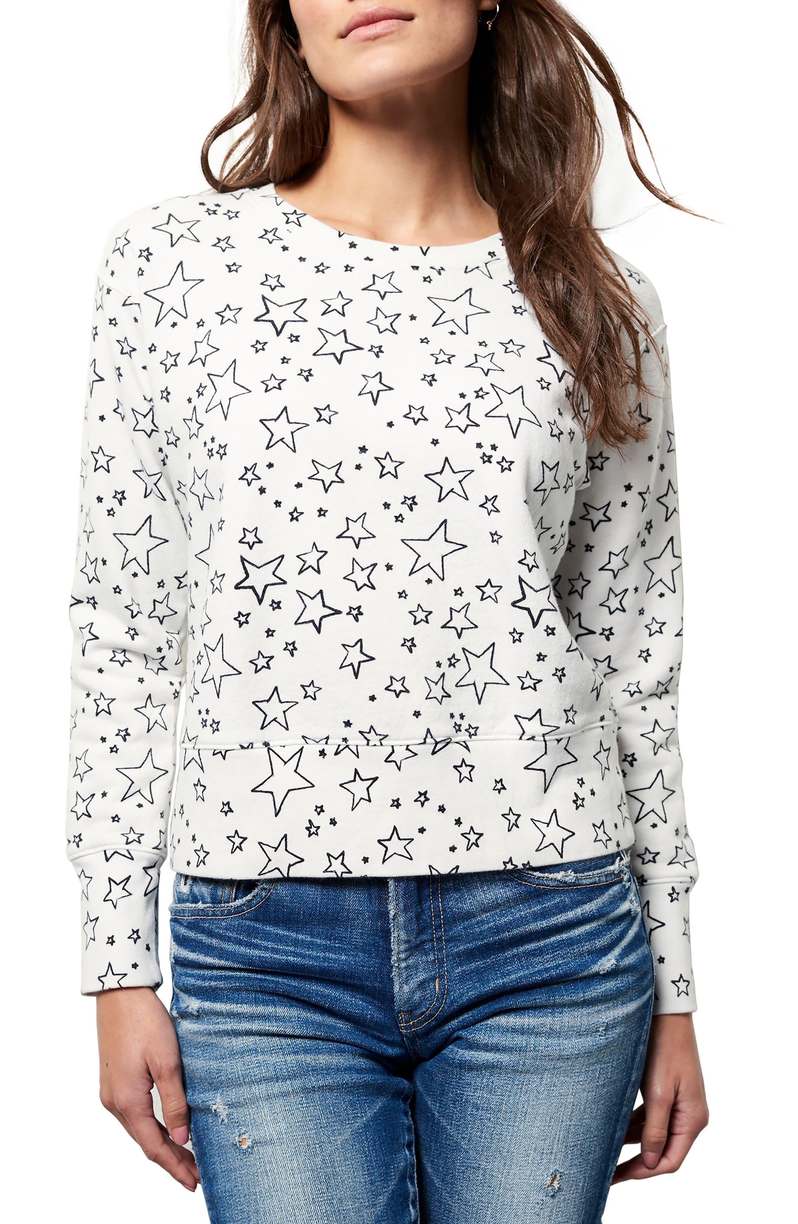 Frank & Eileen Star Sweatshirt,                             Main thumbnail 1, color,                             Lucky Star Day