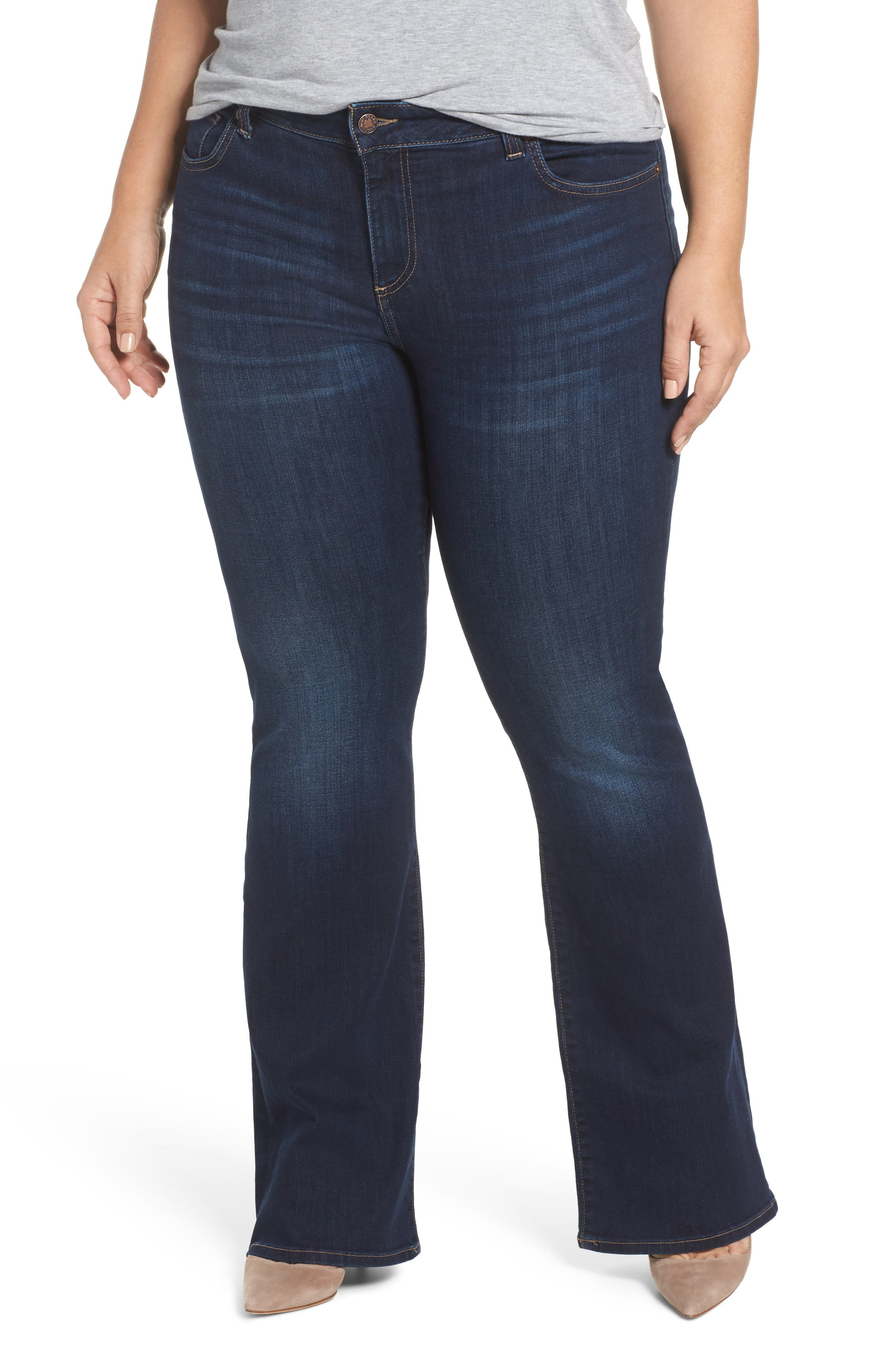 Ginger Bootcut Jeans,                         Main,                         color, Twilight Blue