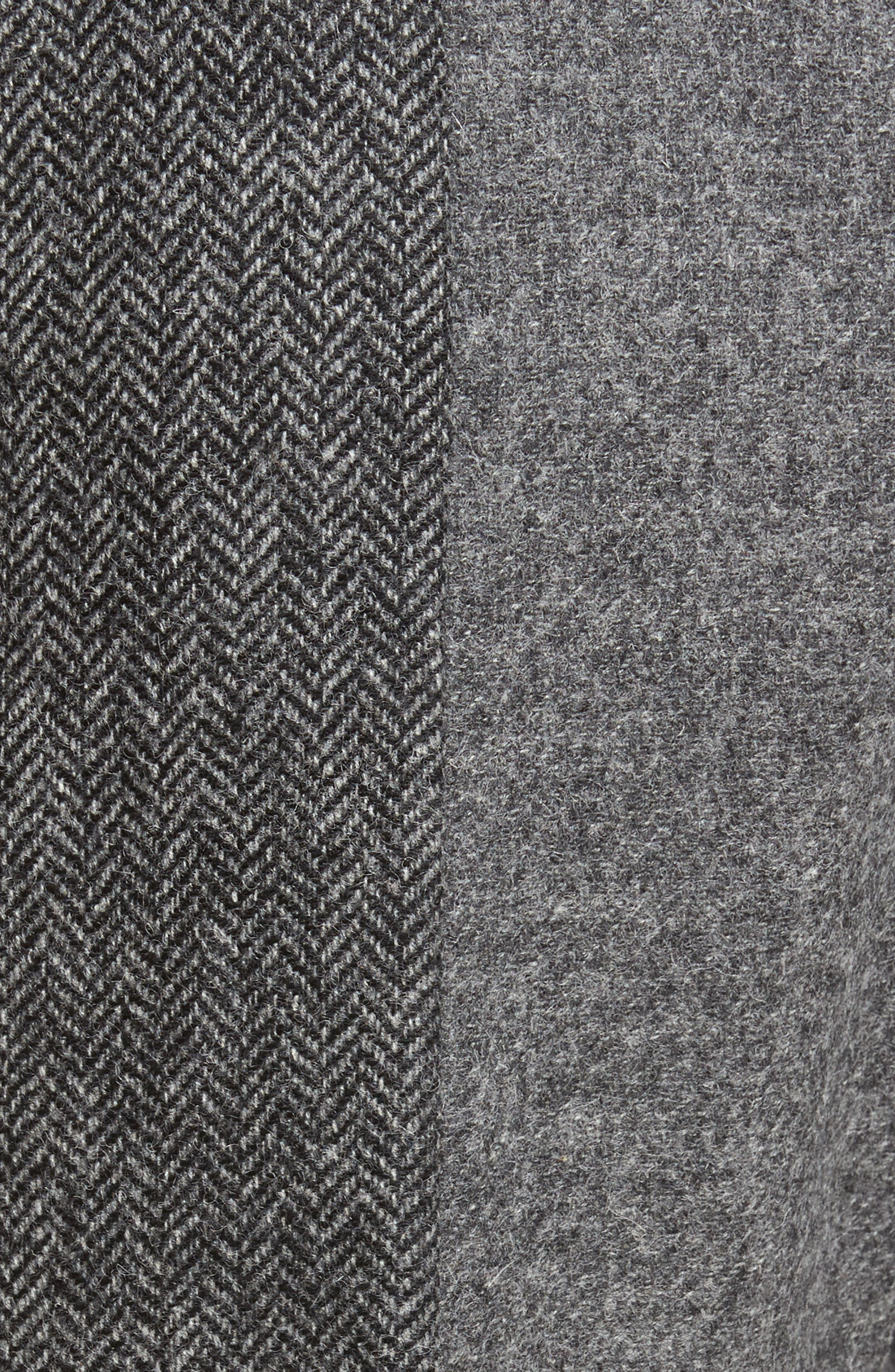 Patchwork Wool Trousers,                             Alternate thumbnail 5, color,                             Grey Melange