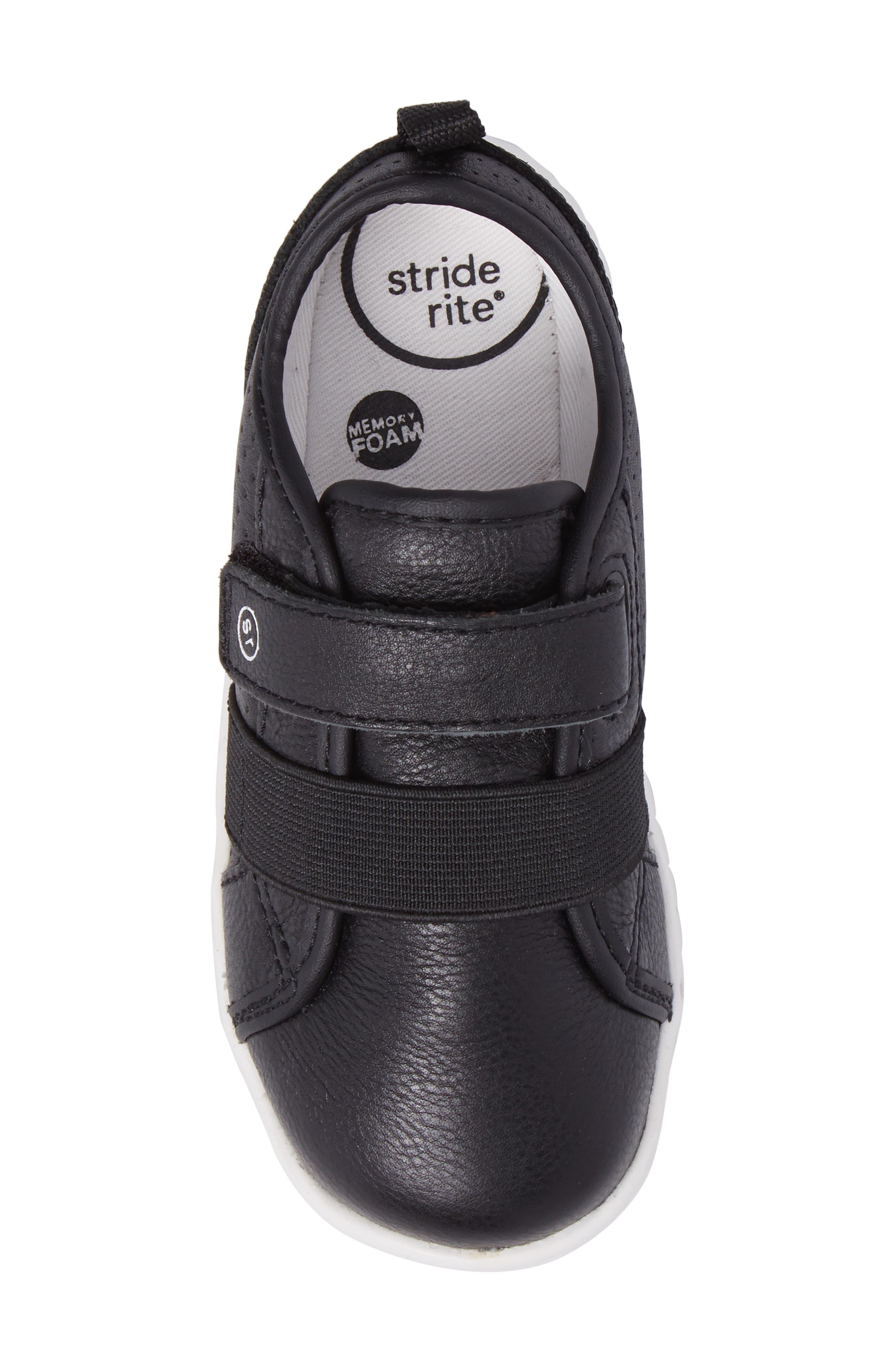SRT Riley Sneaker,                             Alternate thumbnail 5, color,                             Black Leather