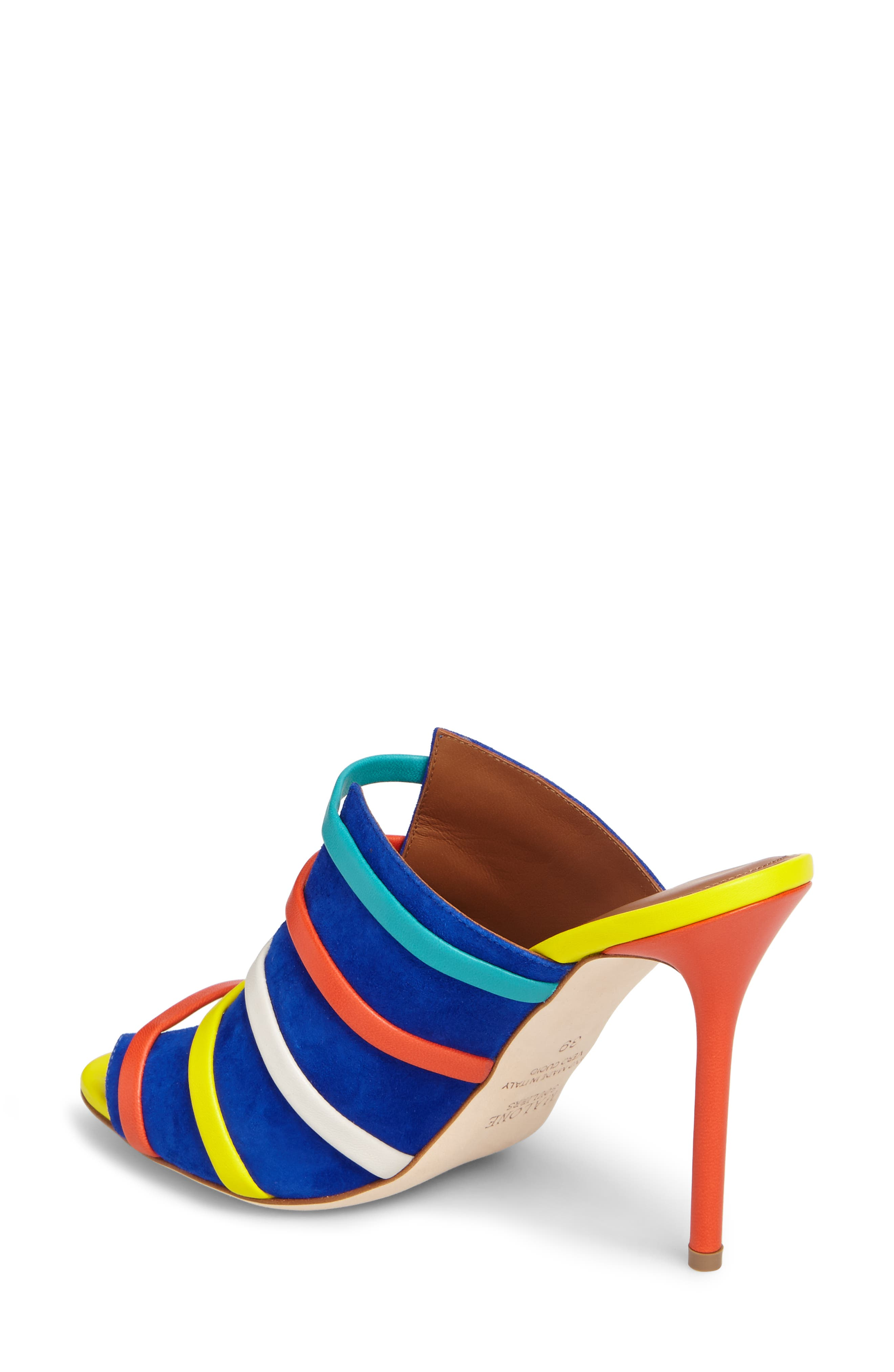 Zoe Banded Mule,                             Alternate thumbnail 2, color,                             Electric Blue/ Flame/ Yellow