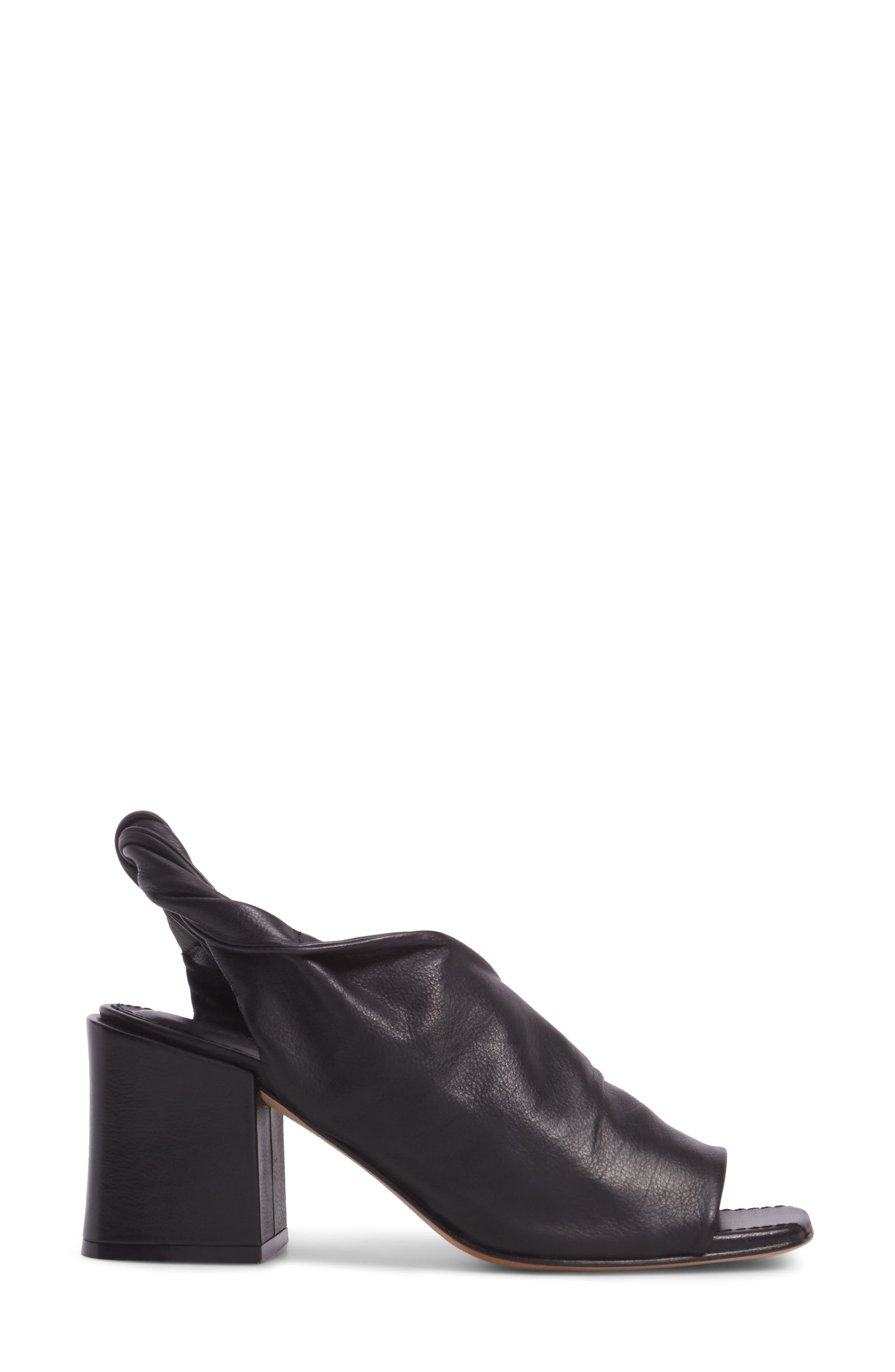 Lenny Block Heel Sandal,                             Alternate thumbnail 3, color,                             Black