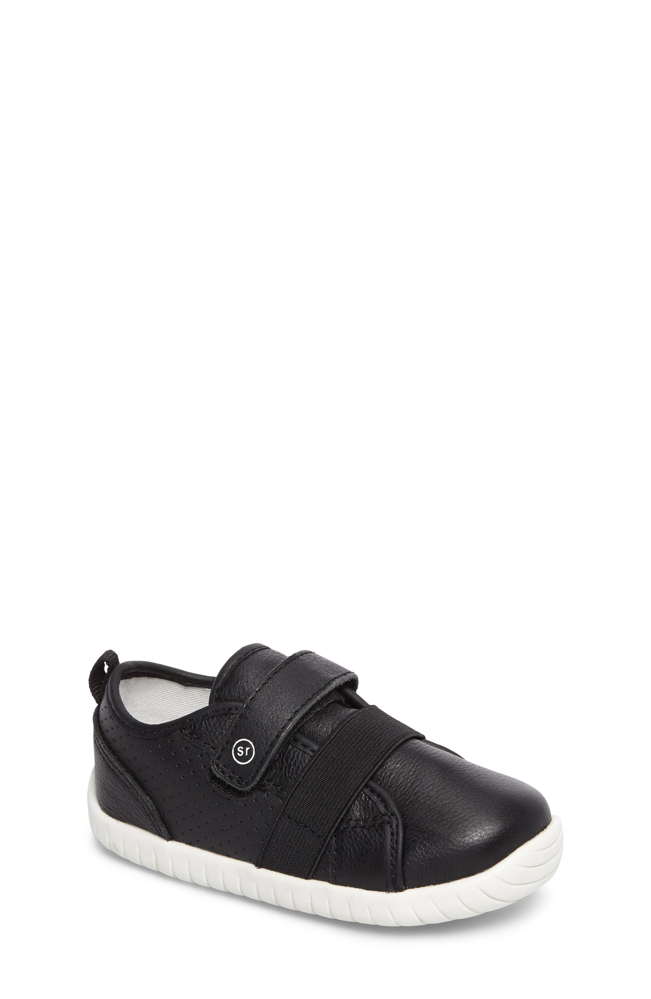 SRT Riley Sneaker,                         Main,                         color, Black Leather
