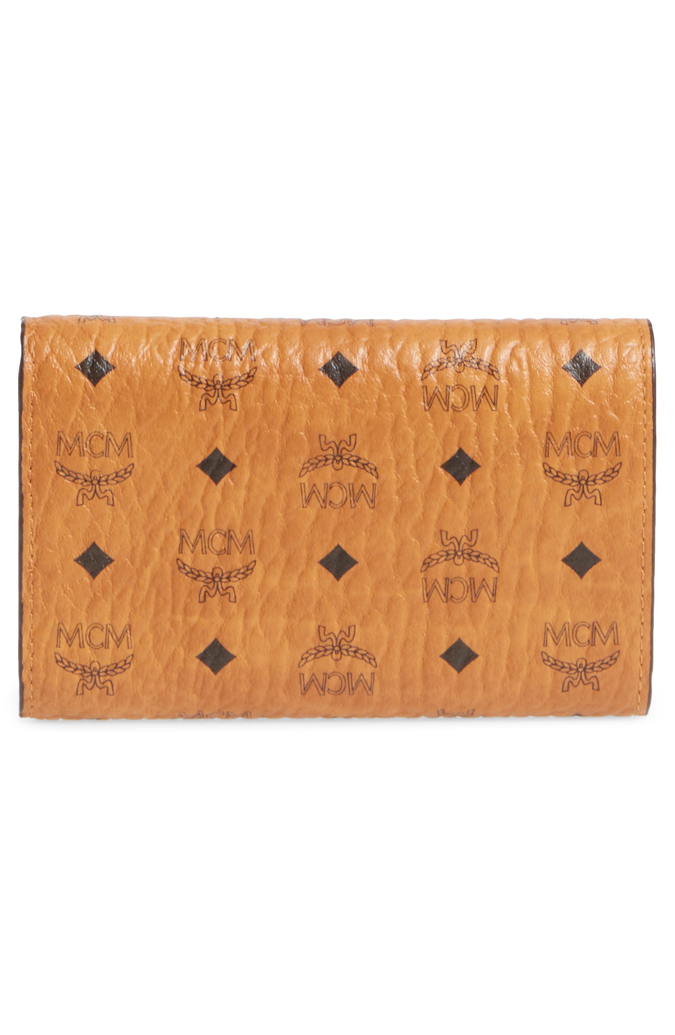 Small French Trifold Wallet,                             Alternate thumbnail 4, color,                             Cognac