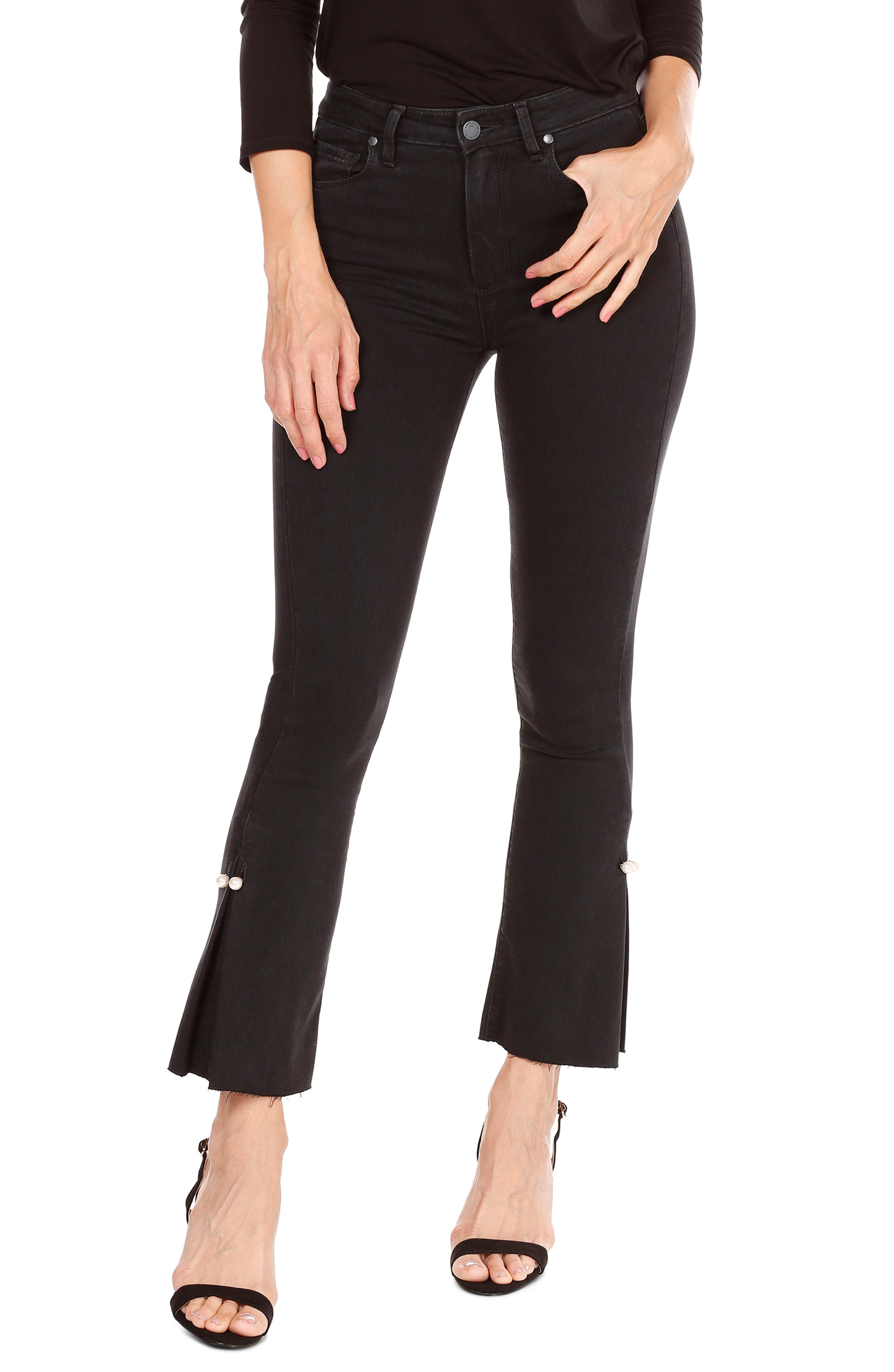 Alternate Image 1 Selected - PAIGE Transcend - Colette High Waist Crop Flare Jeans (Bandit)