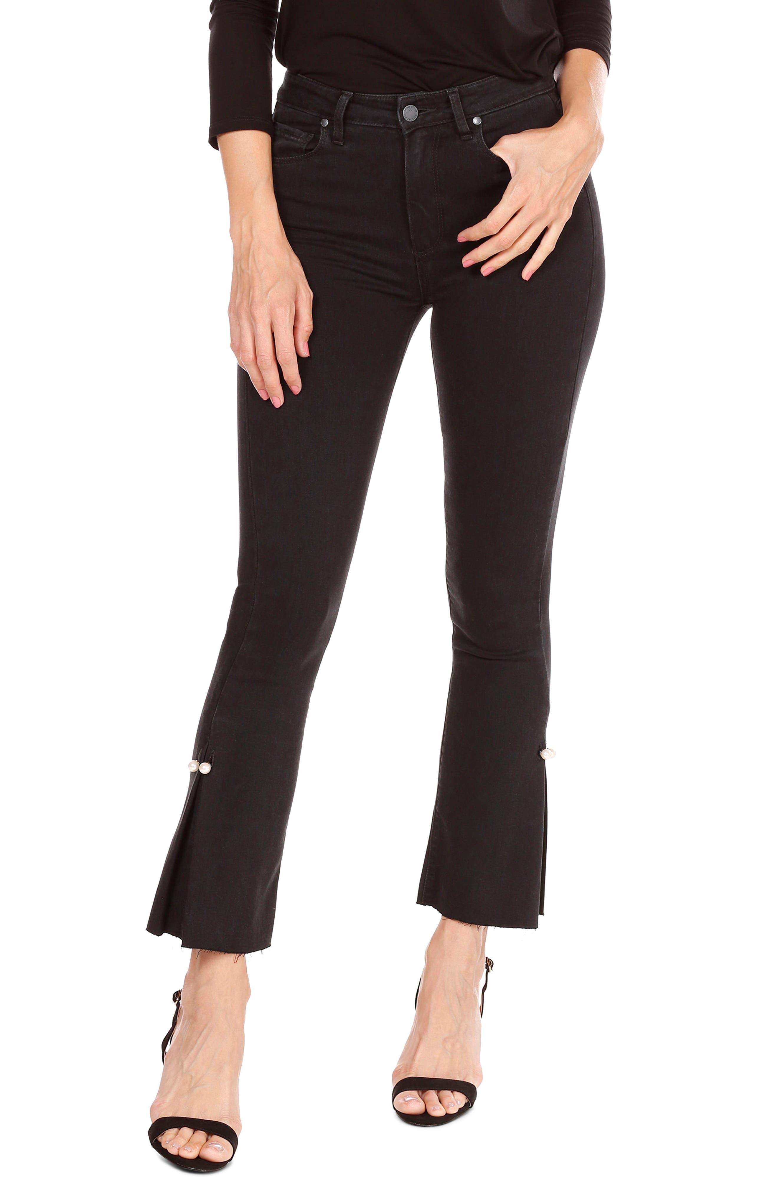 Main Image - PAIGE Transcend - Colette High Waist Crop Flare Jeans (Bandit)