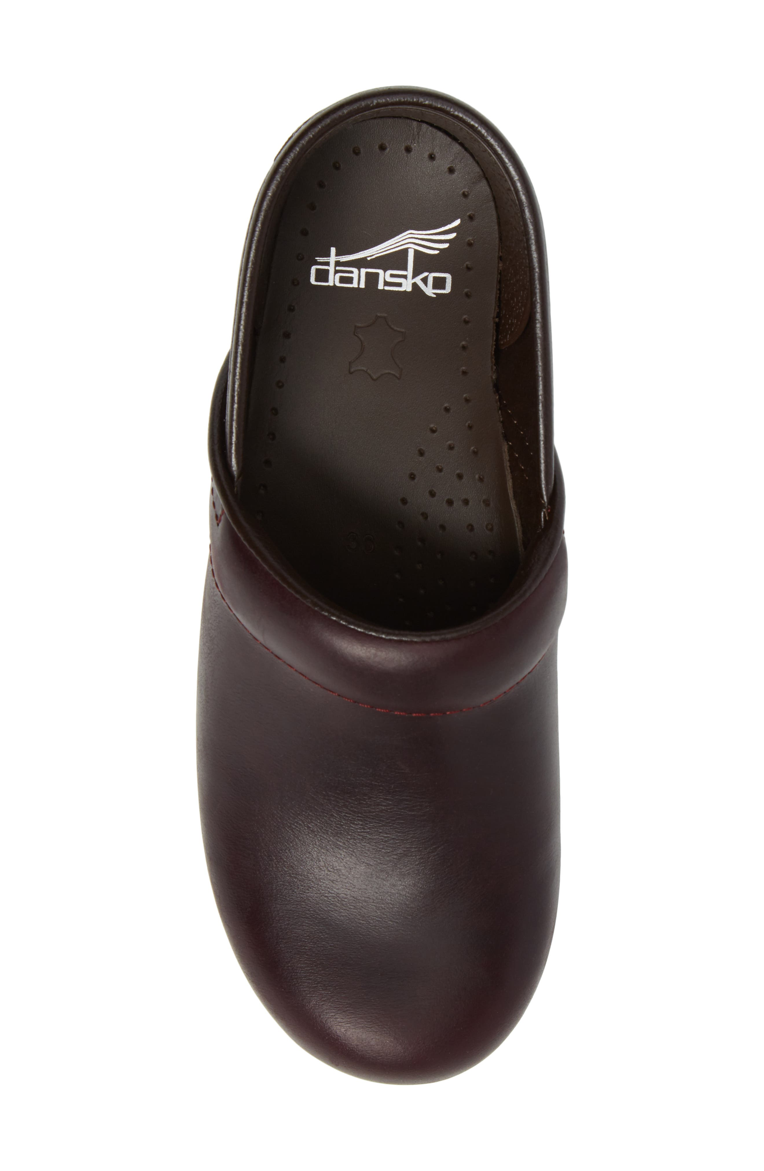 'Professional' Clog,                             Alternate thumbnail 5, color,                             Cordovan Leather