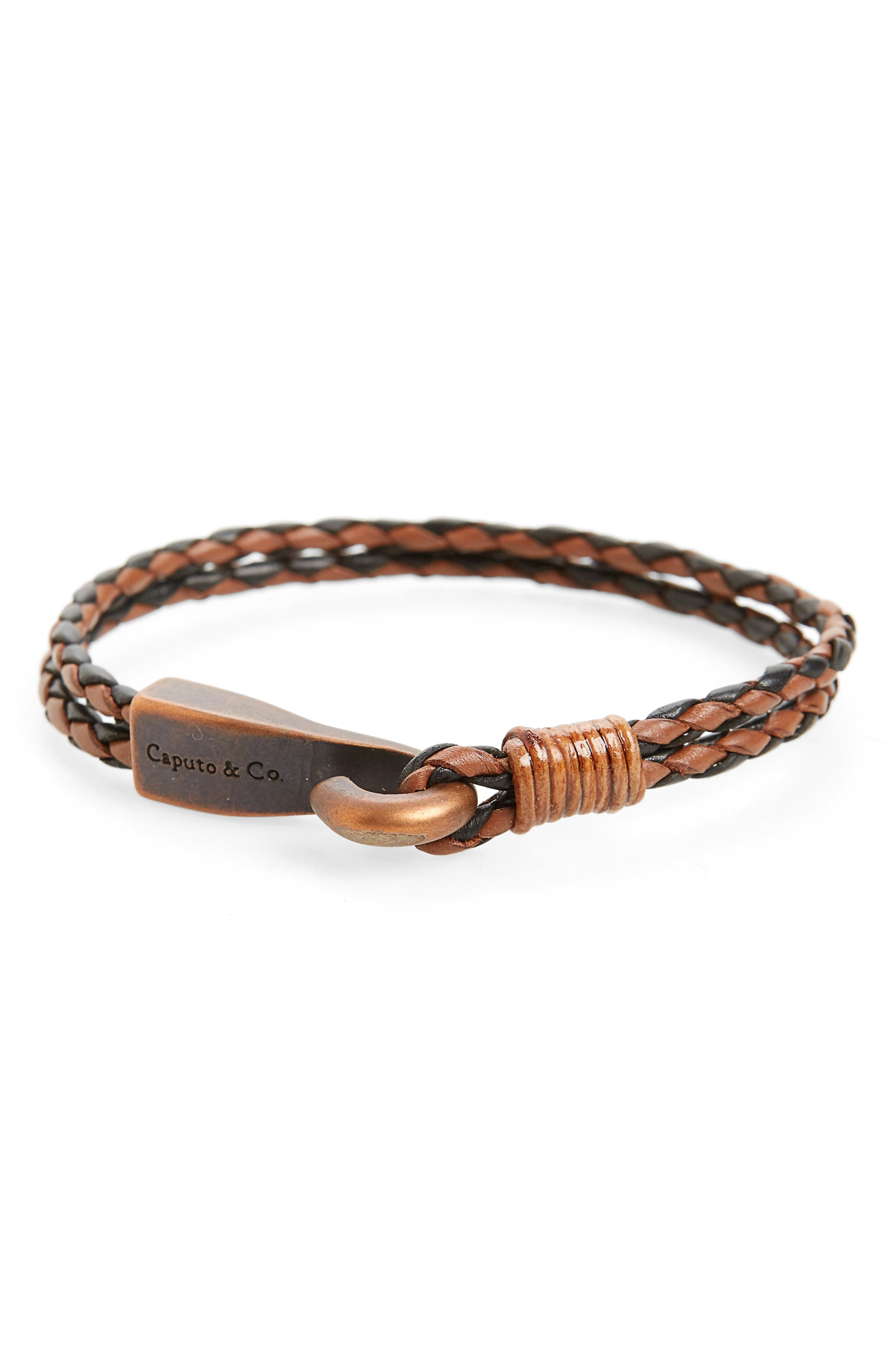 Main Image - Caputo & Co. Big Hook Leather Bracelet